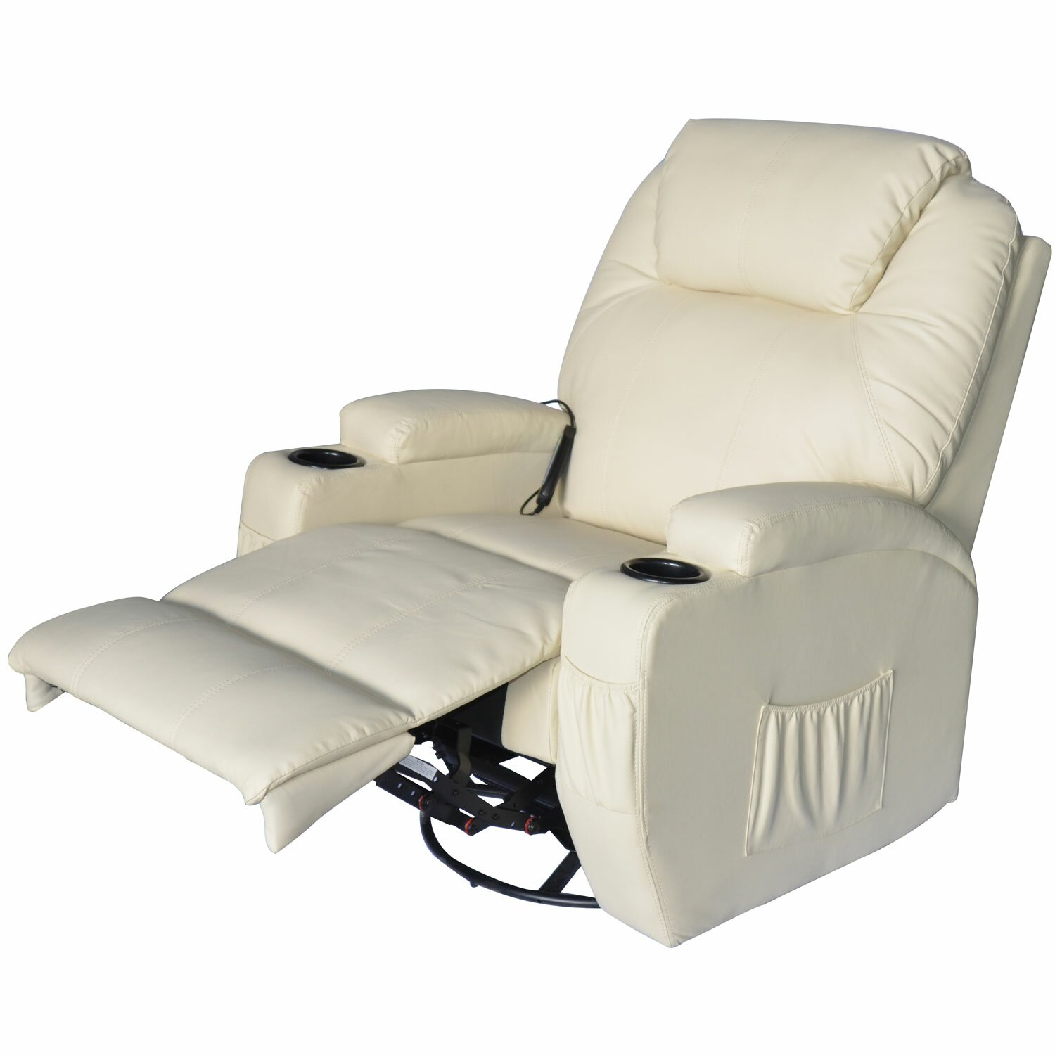 Outsunny Hom Deluxe Heated Vibrating PU Leather Massage Recliner & Reviews