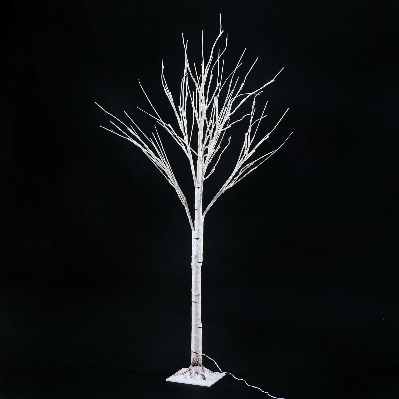 homcom 59 1 48 led light up holiday indoor accent birch tree reviews wayfair. Black Bedroom Furniture Sets. Home Design Ideas