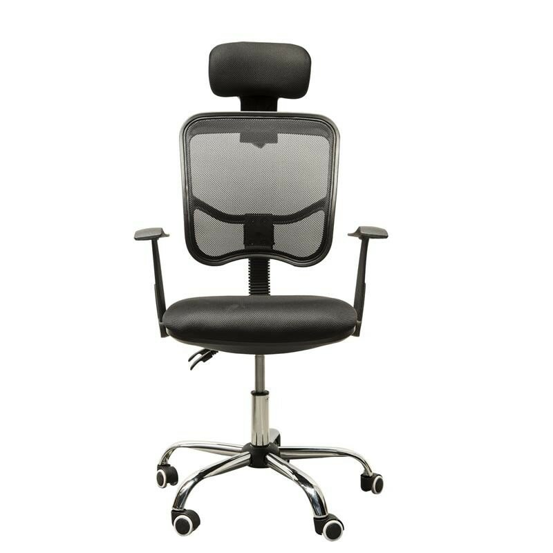 HomCom Adjustable Mesh High Back Office Chair With Headrest Reviews W