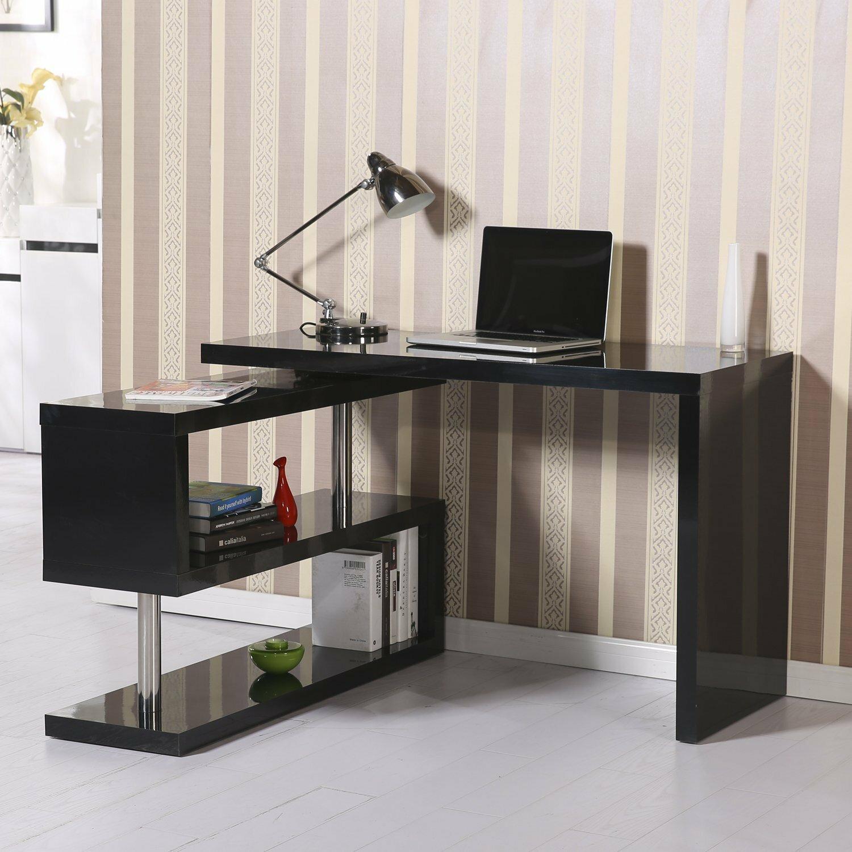 homcom rotating computer desk reviews wayfair. Black Bedroom Furniture Sets. Home Design Ideas