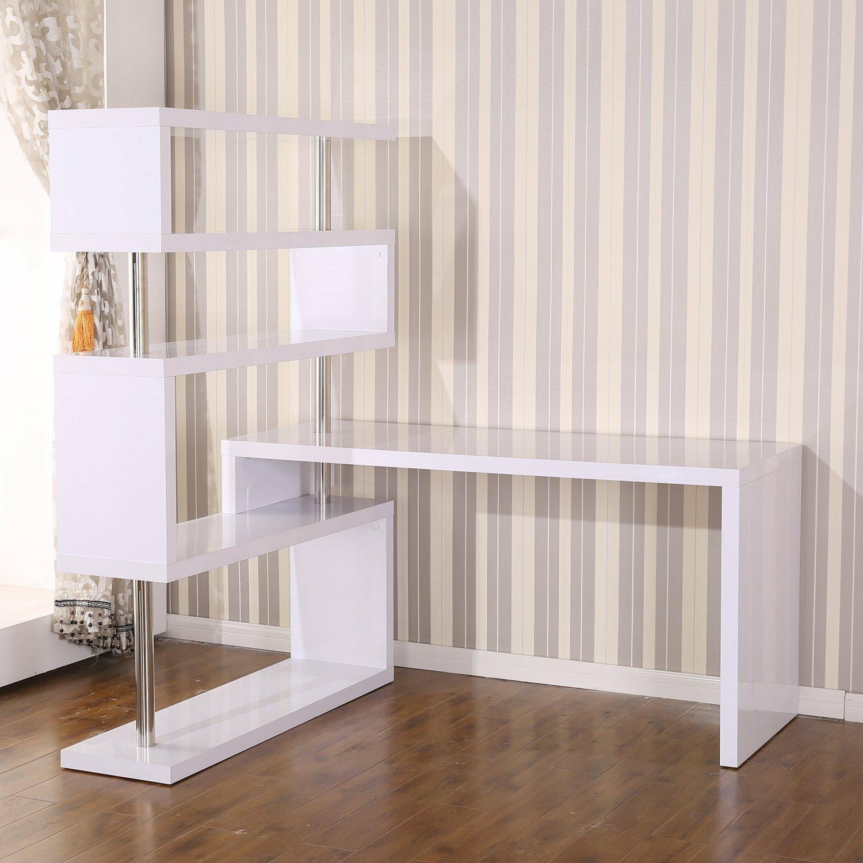 Homcom Foldable Rotating Corner Desk Amp Reviews Wayfair