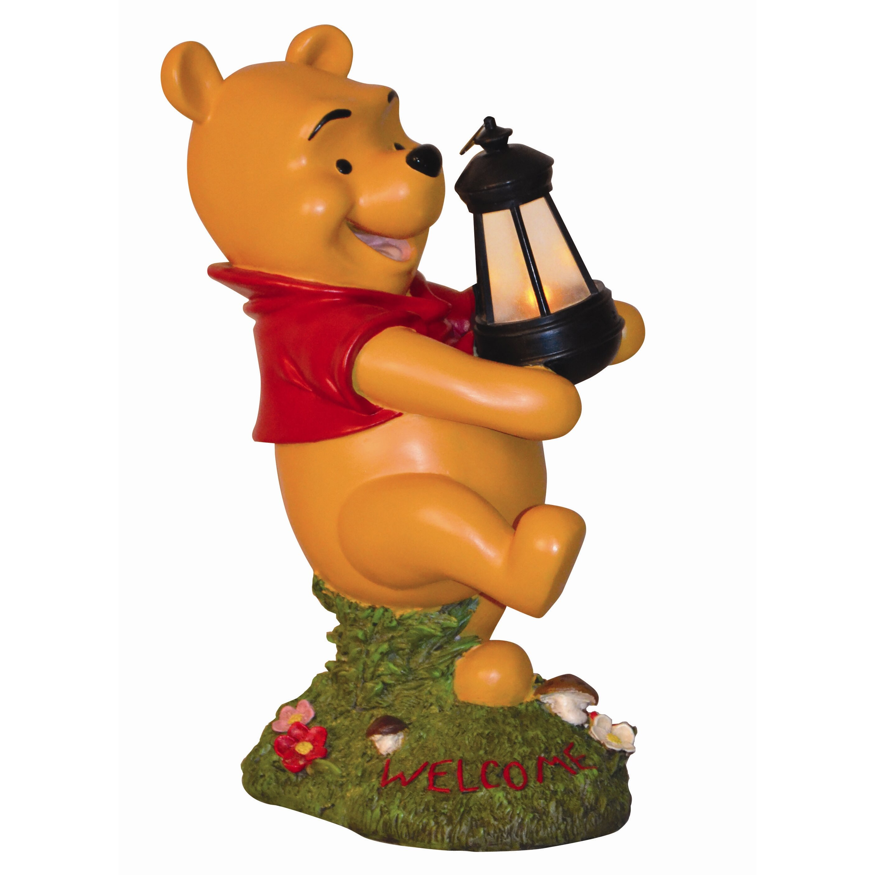 woods international disney winnie the pooh holding lighted lantern statue reviews wayfair. Black Bedroom Furniture Sets. Home Design Ideas