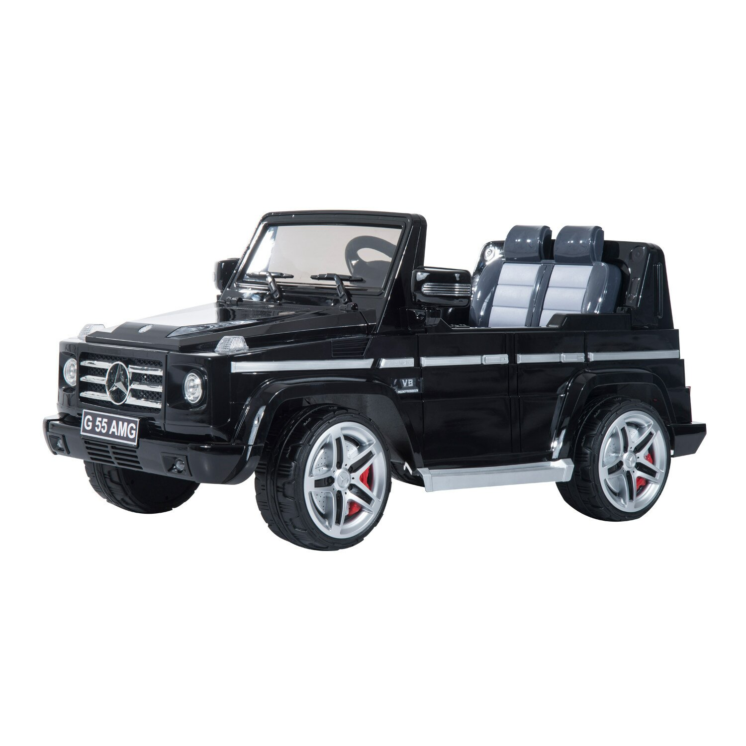 Qaba mercedes benz g55 kids 12v electric battery powered for Mercedes benz electric truck