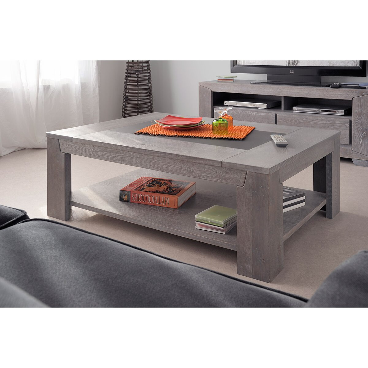 parisot titan coffee table reviews wayfair. Black Bedroom Furniture Sets. Home Design Ideas