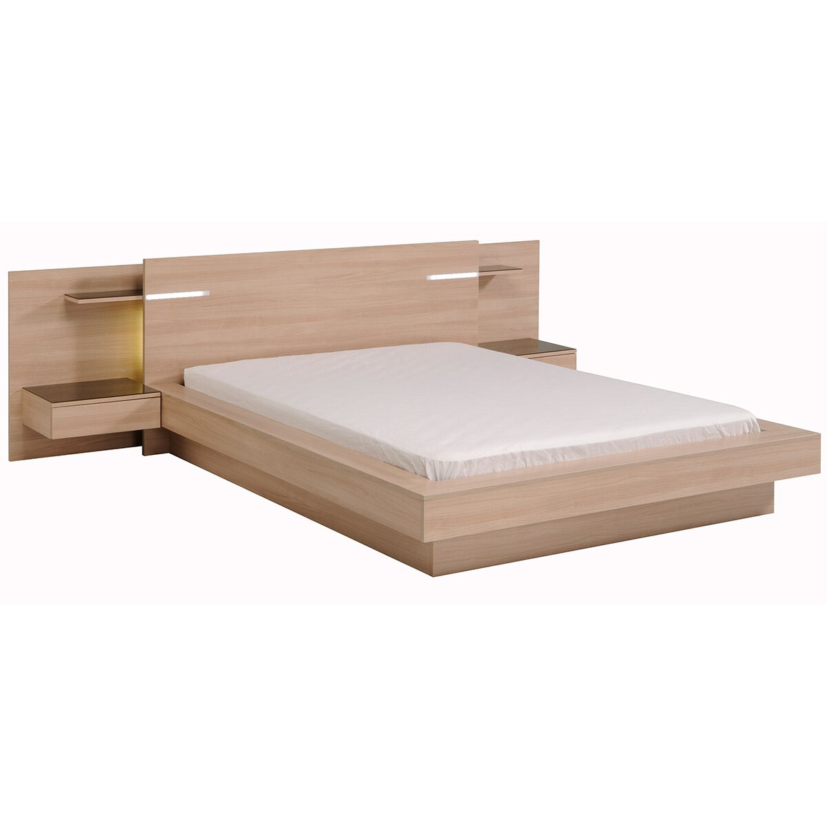 Parisot life queen platform bed wayfair for Average lifespan of a mattress