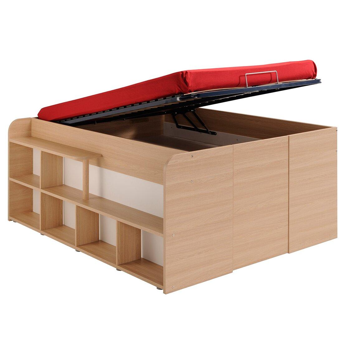 parisot storage platform bed reviews wayfair. Black Bedroom Furniture Sets. Home Design Ideas