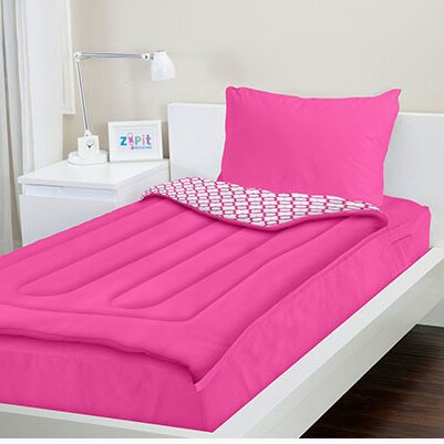 Zipit Bedding Pink Reversible Bed In A Bag Set Amp Reviews