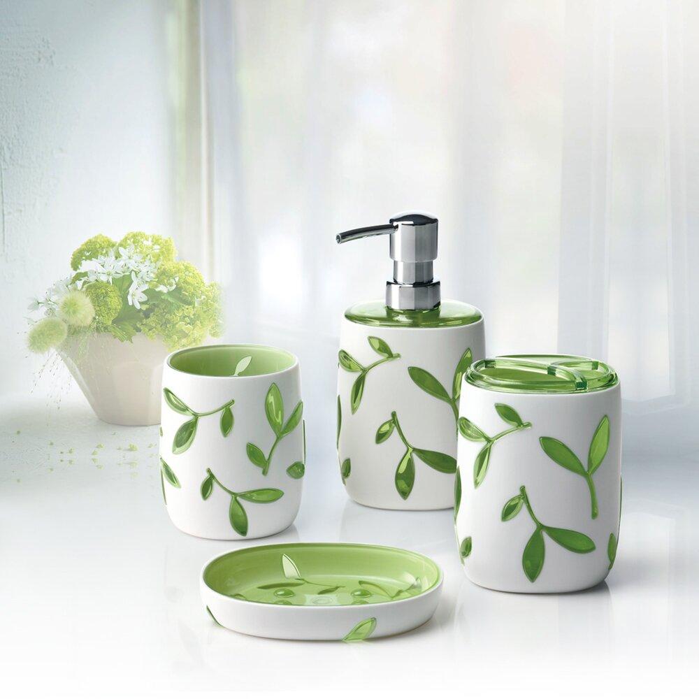 Immanuel olive 4 piece bathroom accessory set reviews for Bathroom 4 piece set
