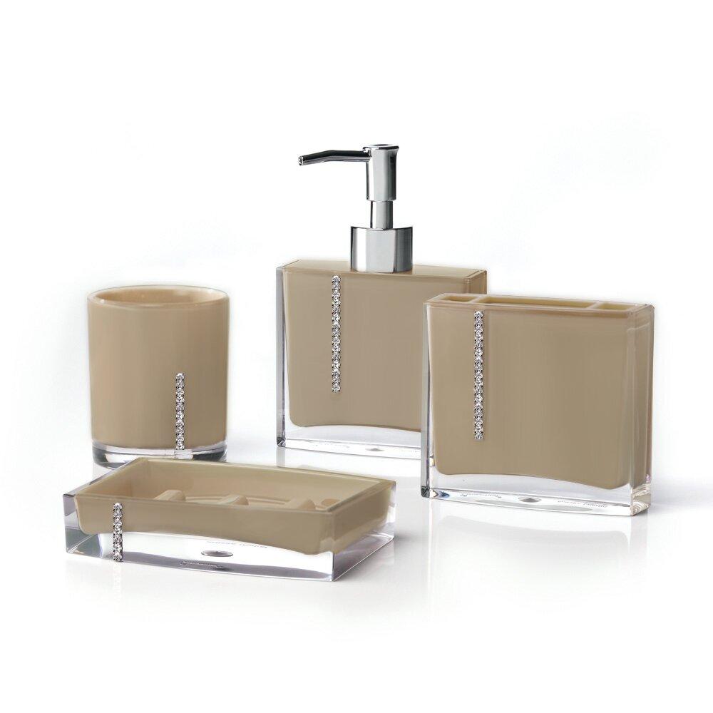 Immanuel cristal 4 piece bathroom accessory set reviews for Bathroom accessory kit