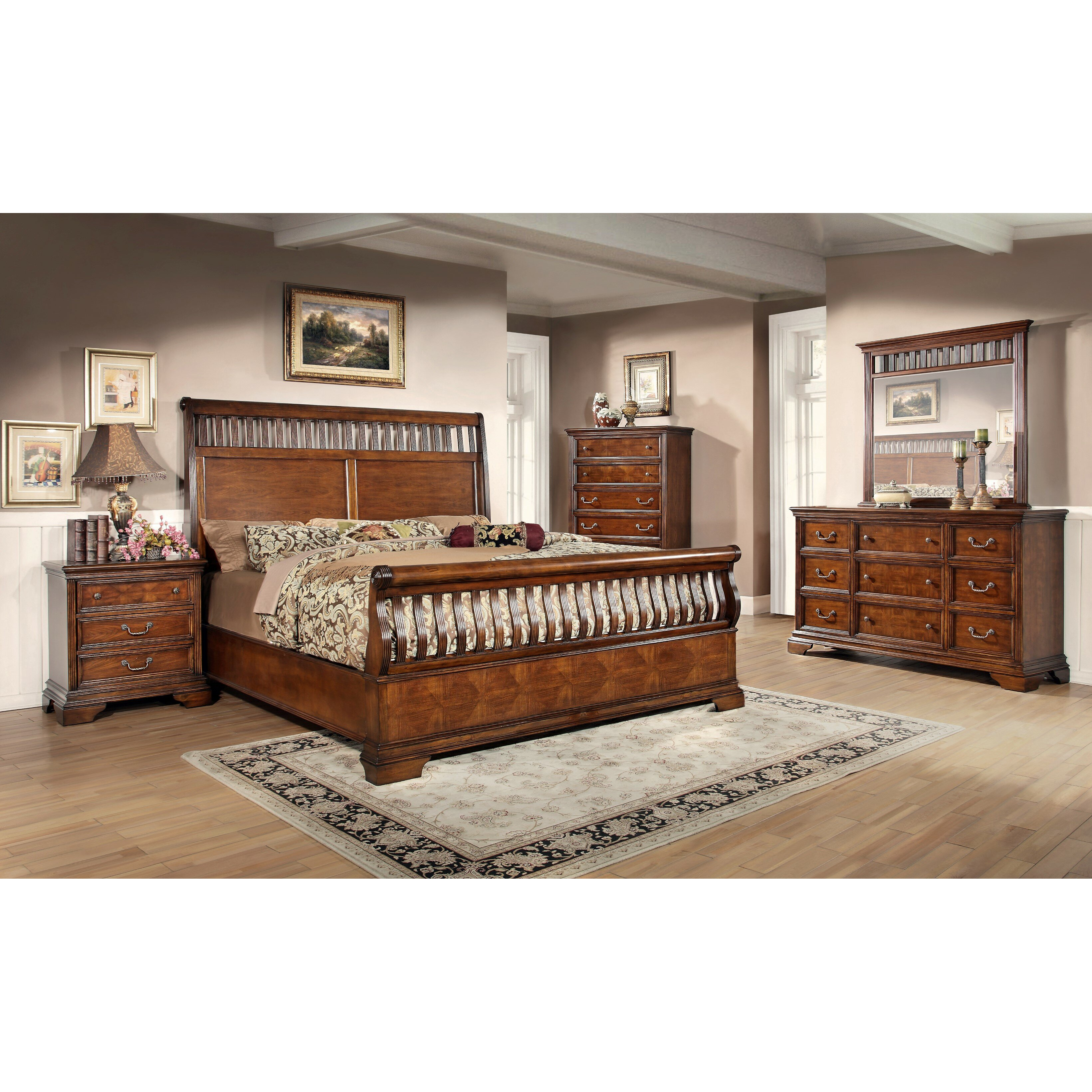 Fairfax home collections waverly place sleigh customizable for Places to get bedroom furniture