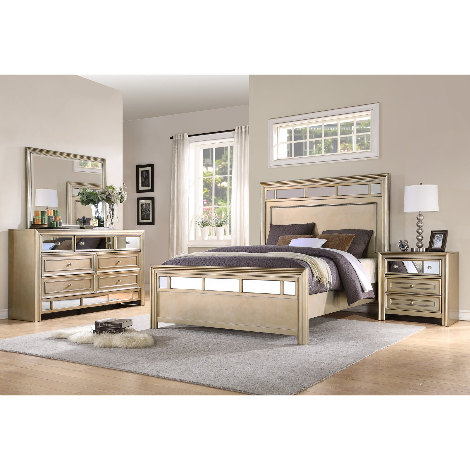 Fairfax Home Collections Champagne Panel Customizable Bedroom Set Reviews Wayfair
