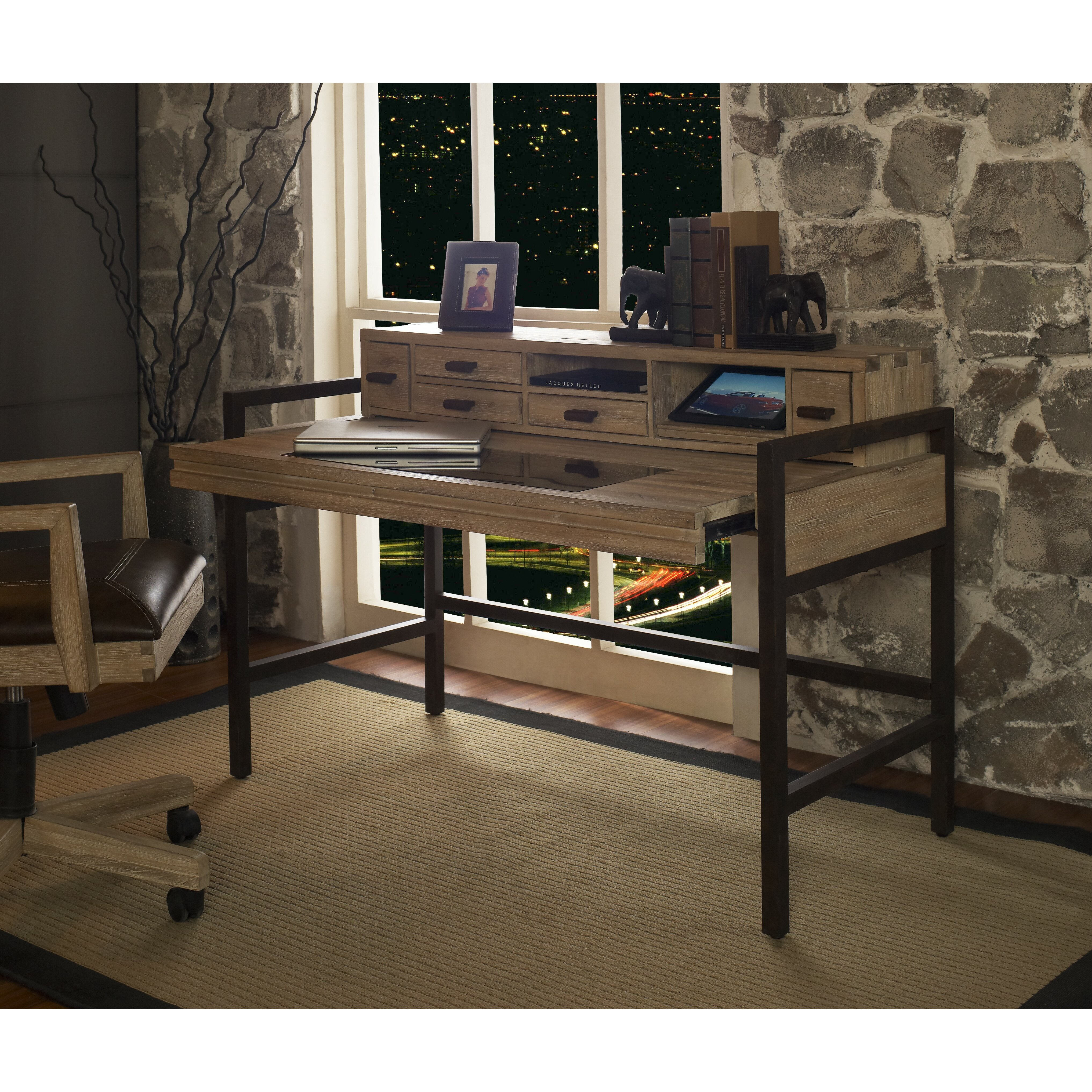 fairfax home collections blair writing desk with smart top