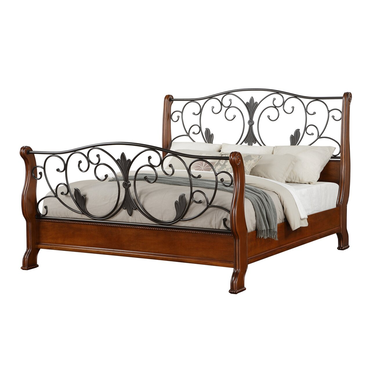 Fairfax Home Collections Queen Sleigh Bed Wayfair
