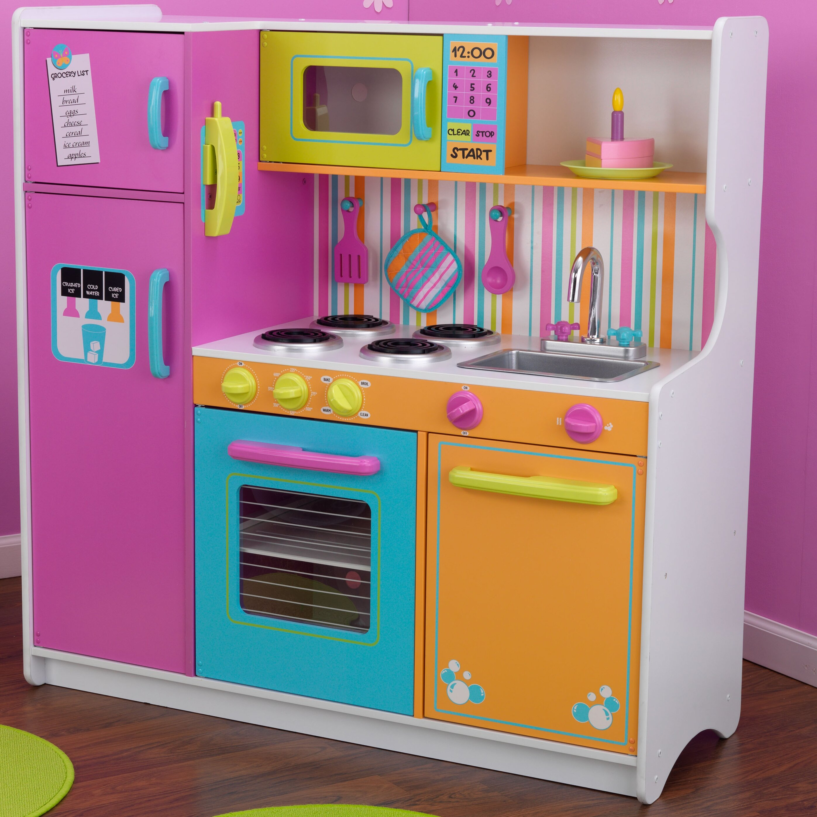 Children Kitchen Set: KidKraft Deluxe Big & Bright Kitchen Play Set & Reviews