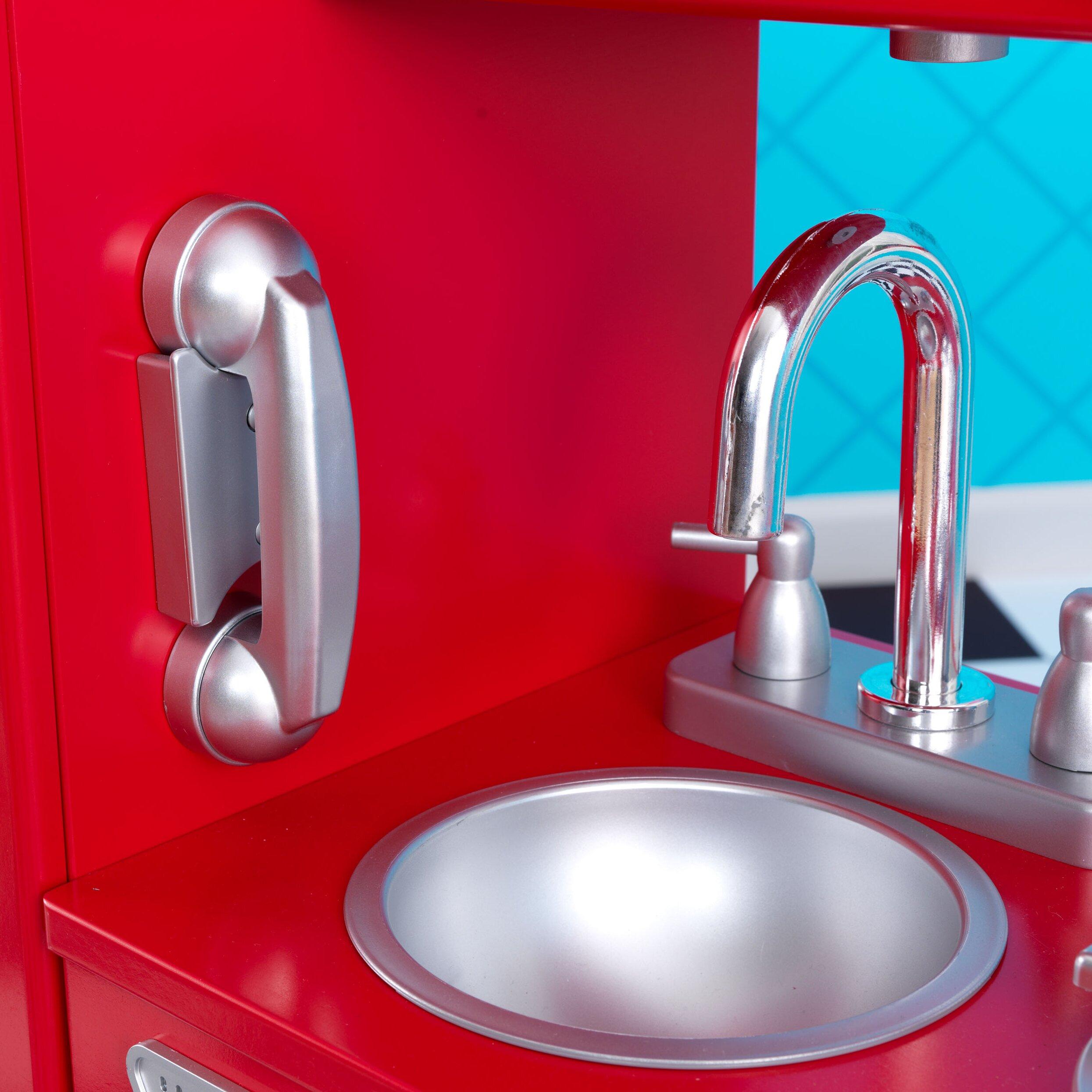 Kidkraft Red Vintage Kitchen 53173: KidKraft Personalized Red Vintage Kitchen & Reviews