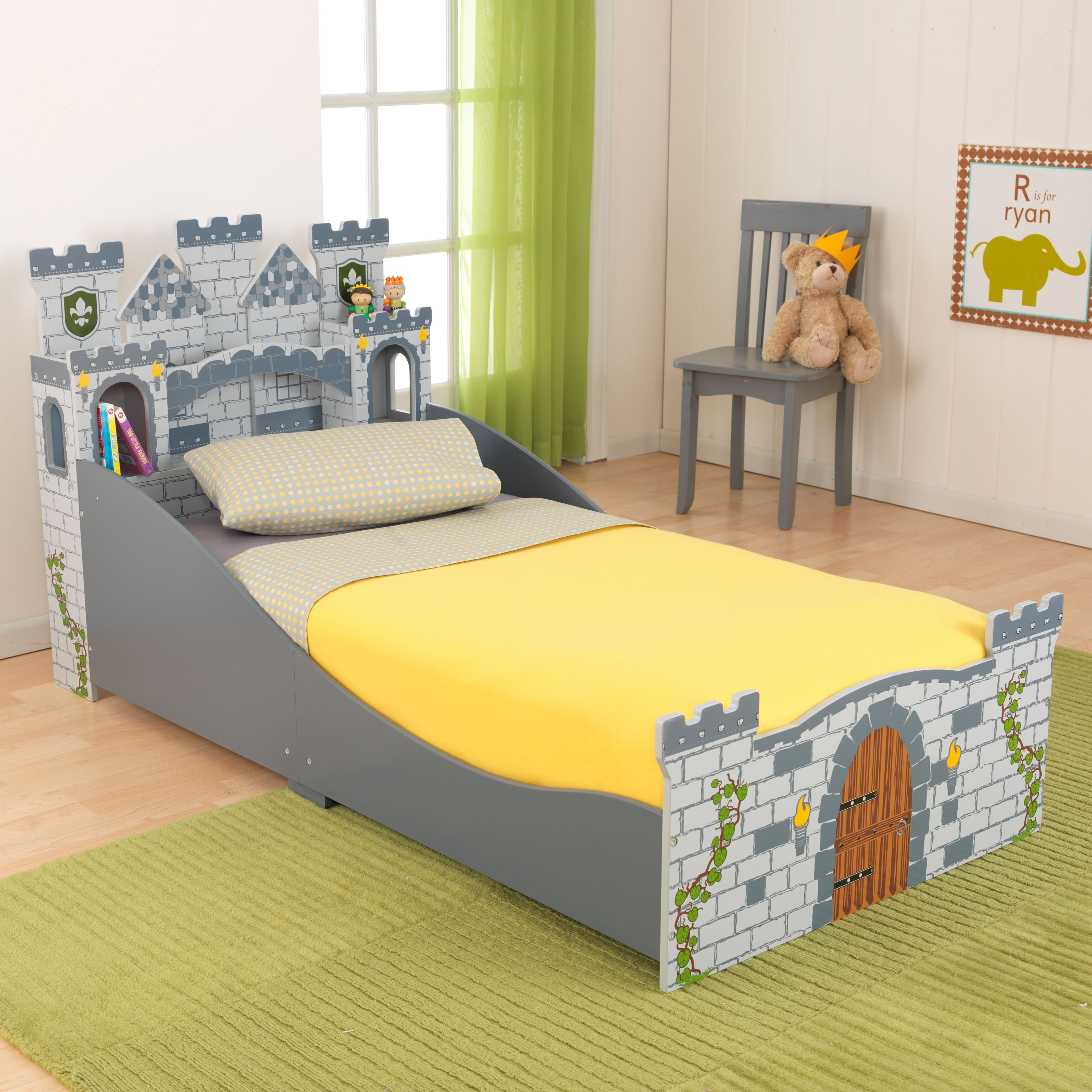 KidKraft Medieval Castle Convertible Toddler Bed Amp Reviews