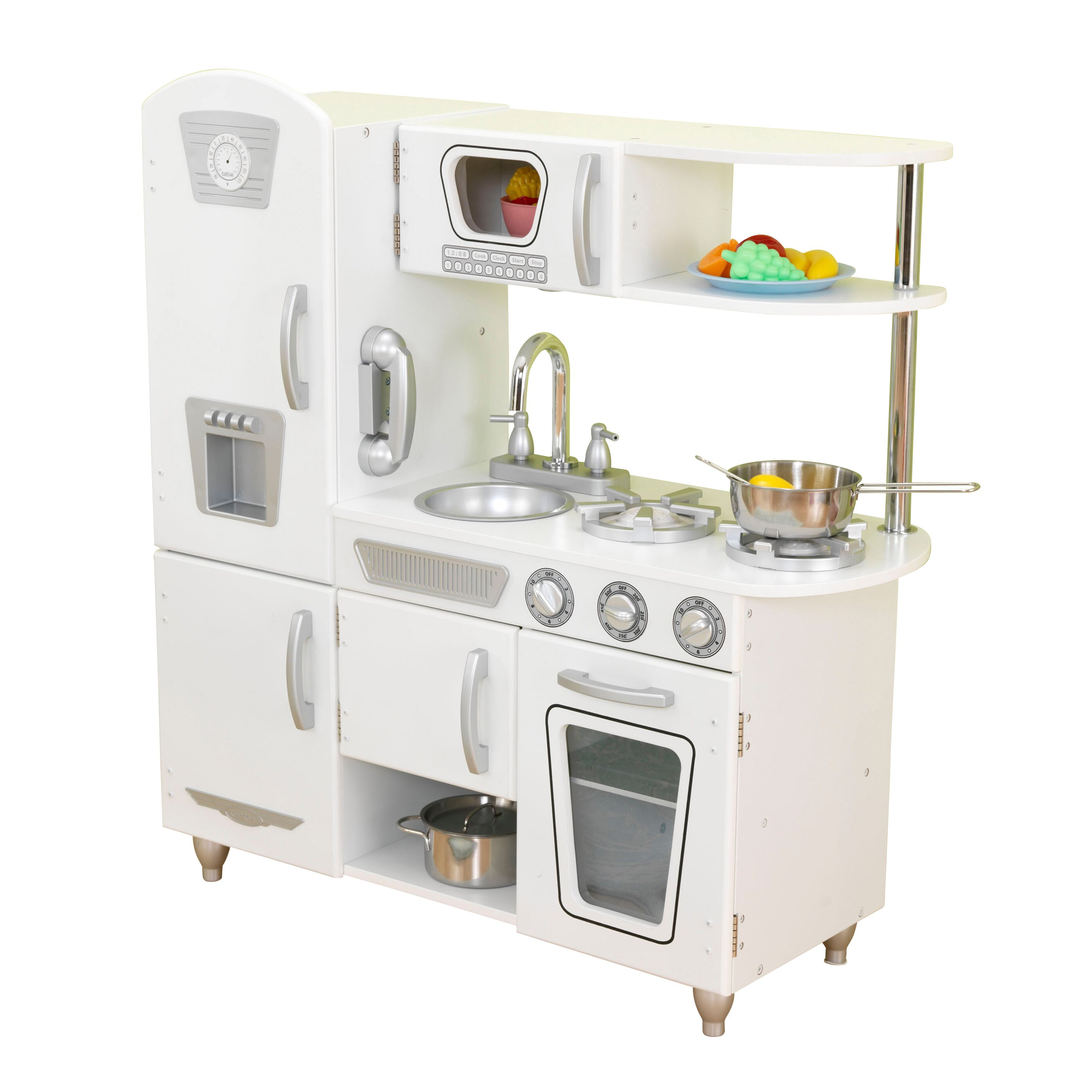 Kidkraft vintage kitchen reviews wayfair for Kitchen kitchen set