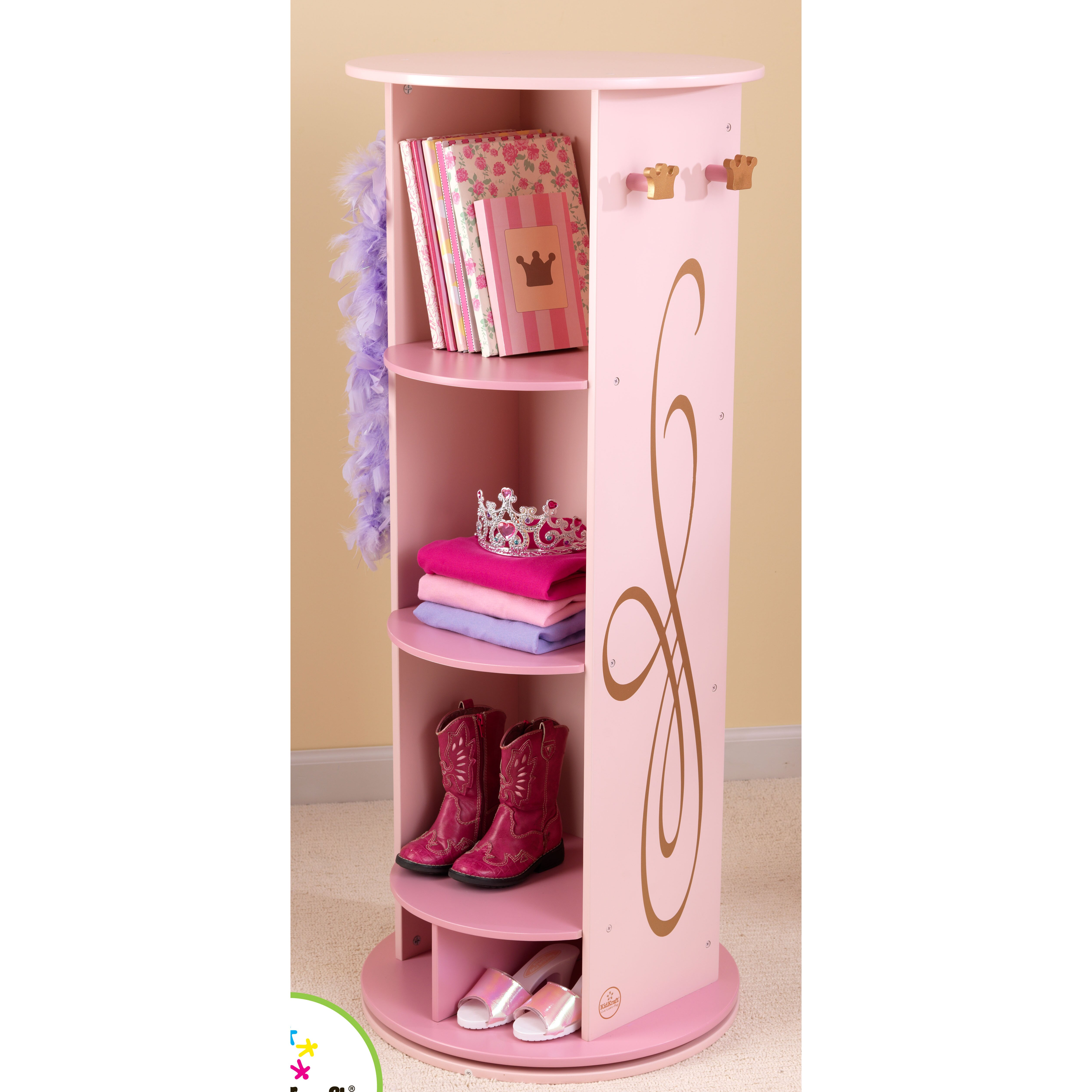 kidkraft princess dress up armoire reviews wayfair. Black Bedroom Furniture Sets. Home Design Ideas