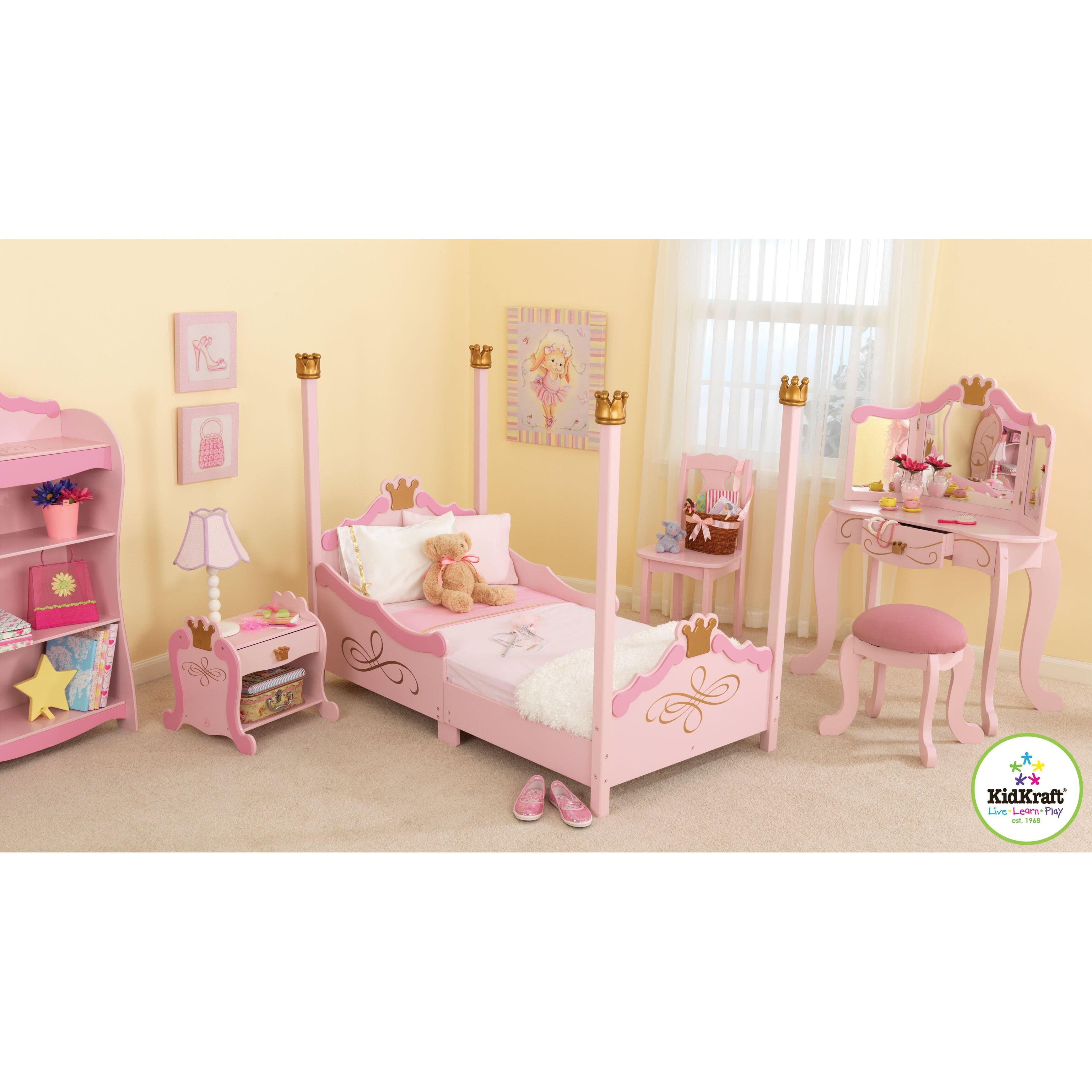 Princess Bedroom For Girls: KidKraft Princess Toddler Four Poster Customizable Bedroom