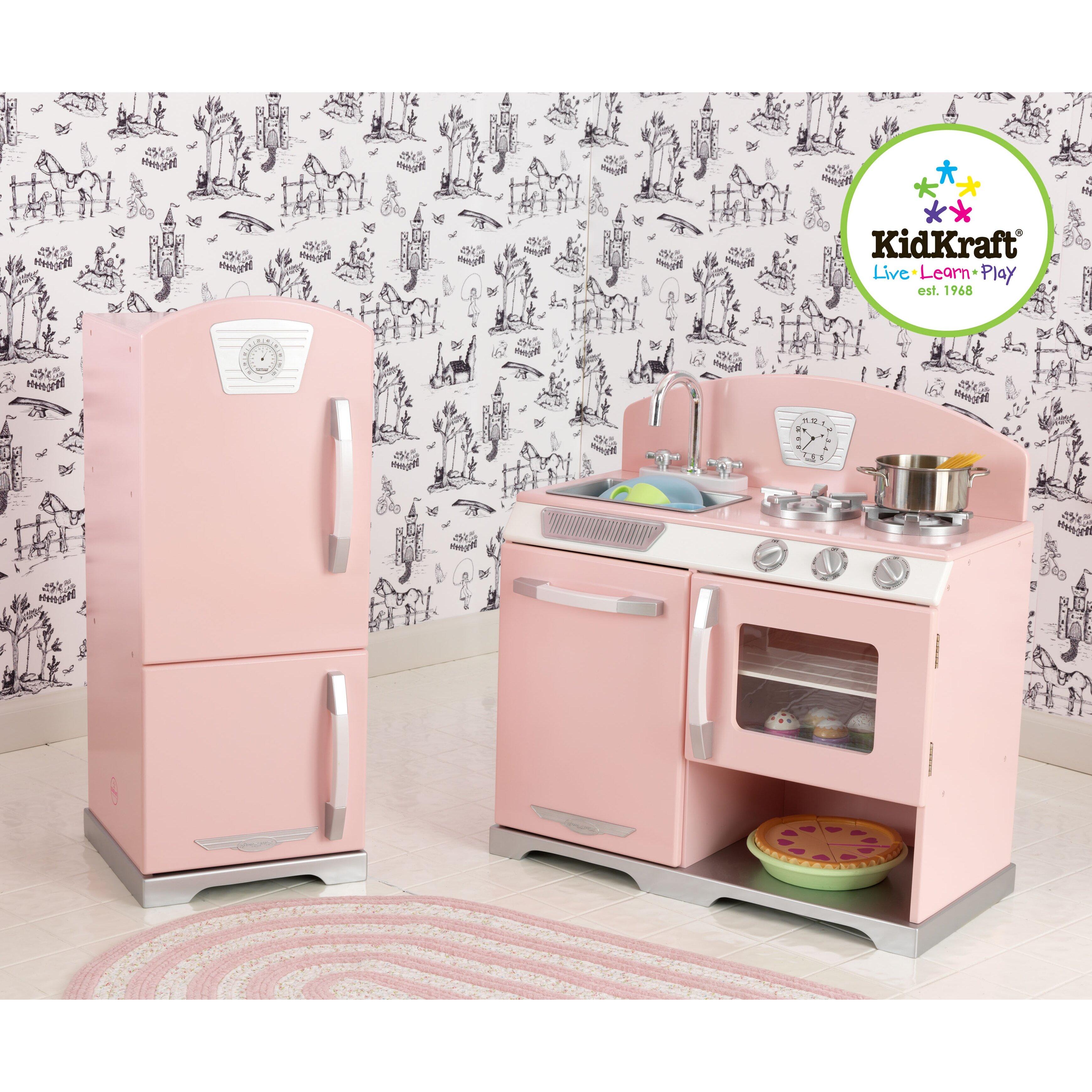Kitchen Set Retro: KidKraft 2 Piece Retro Kitchen And Refrigerator Set