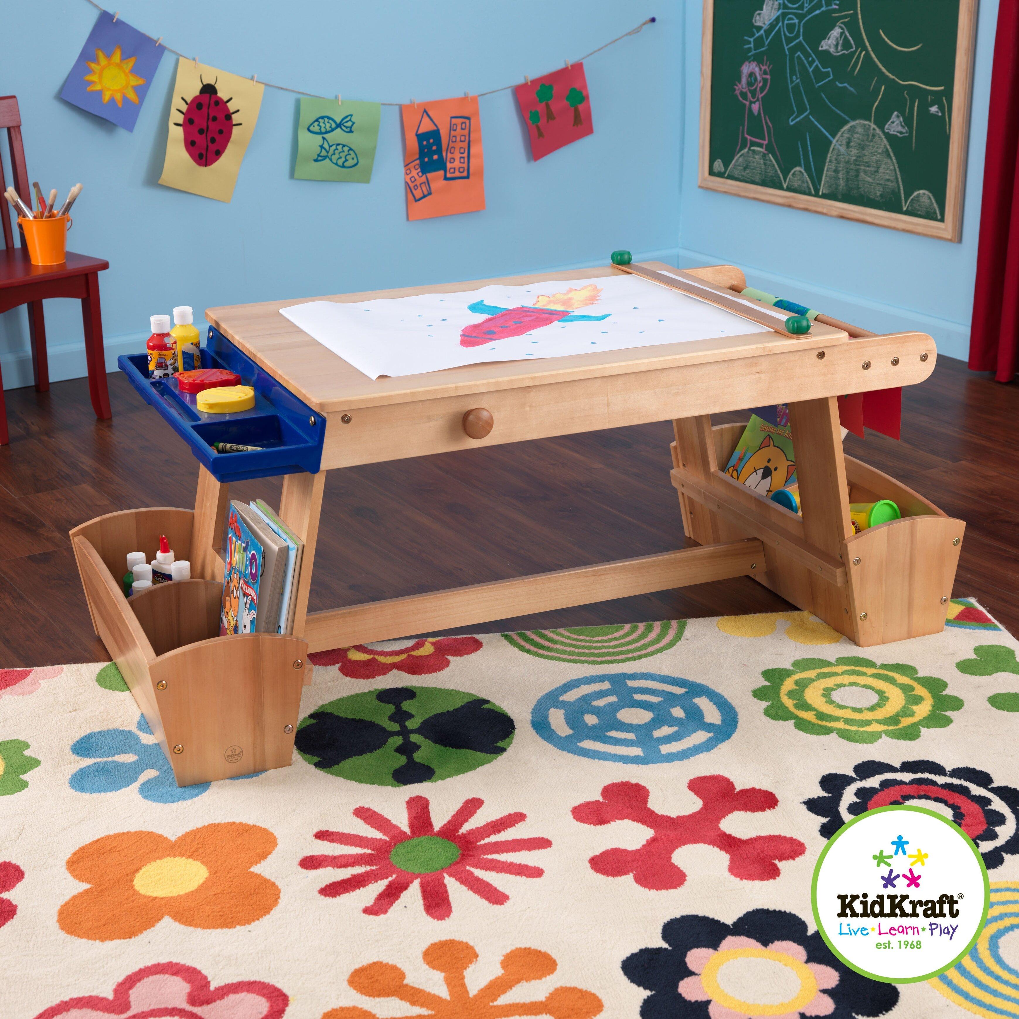 kidkraft drying rack and storage kids arts and crafts. Black Bedroom Furniture Sets. Home Design Ideas