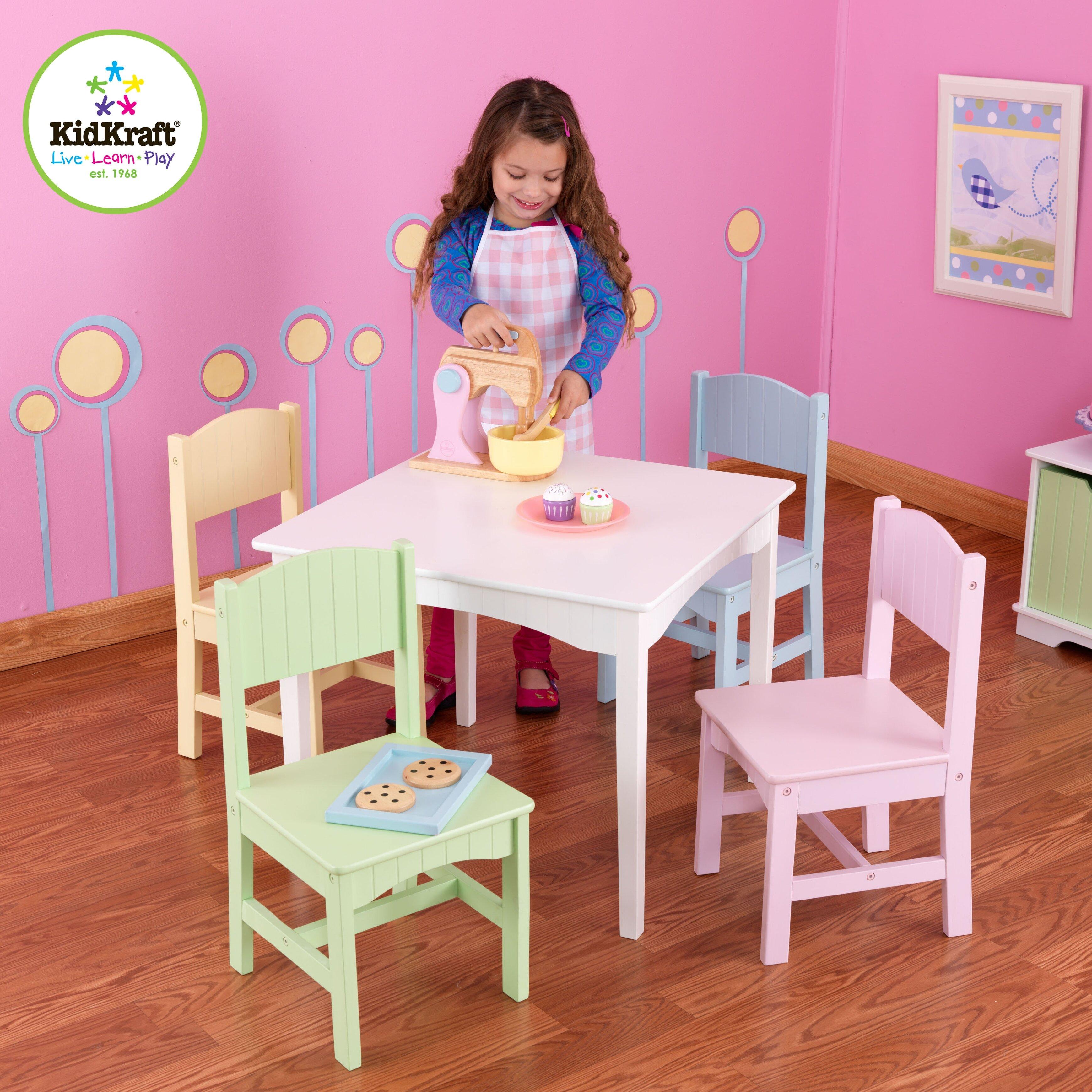 KidKraft Nantucket Kids 5 Piece Table Chair Set Reviews Wayfair