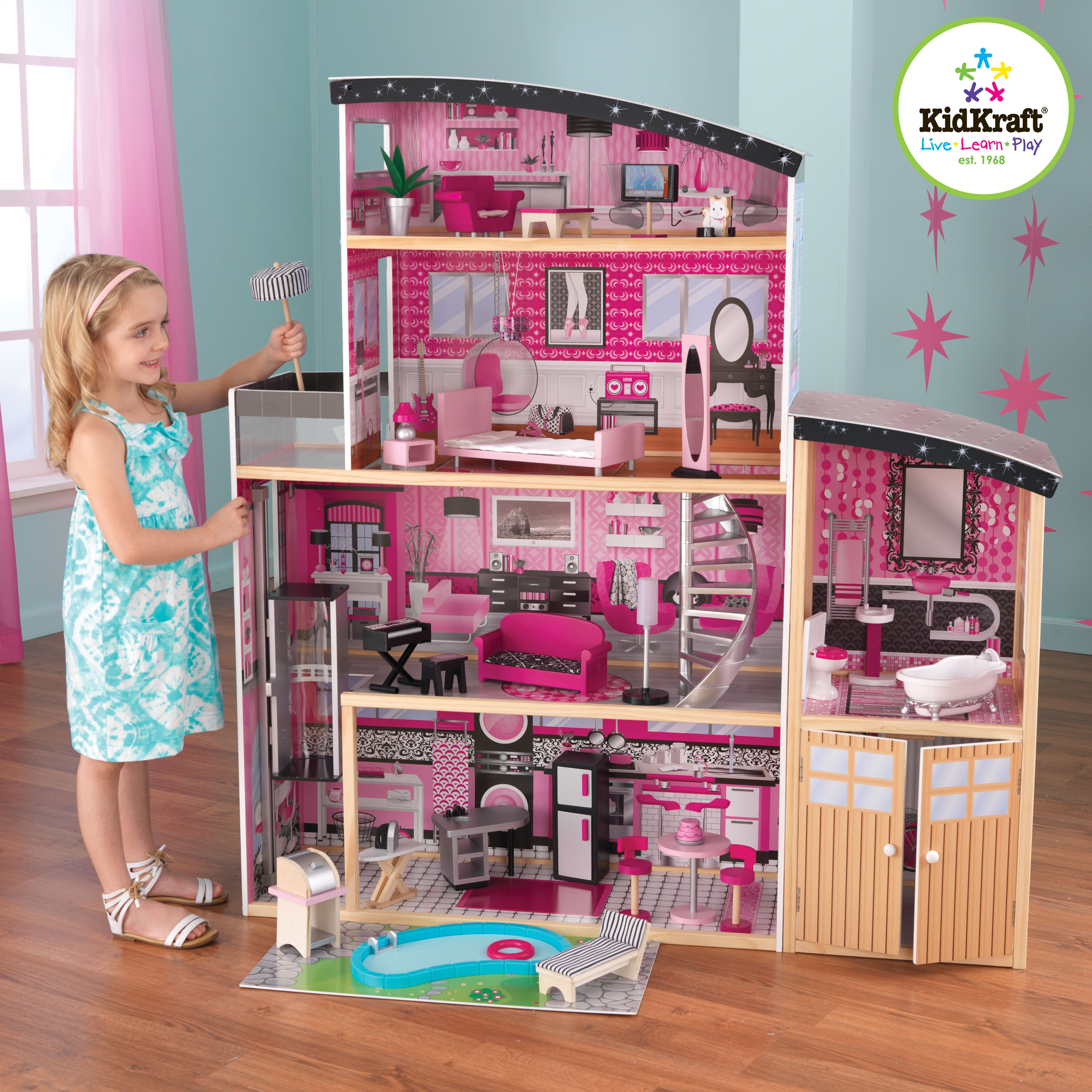 KidKraft Sparkle Mansion Dollhouse & eviews Wayfair - ^