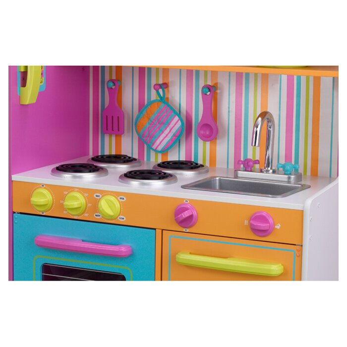 Kidkraft Deluxe Big Bright Kitchen Play Set Reviews Wayfair