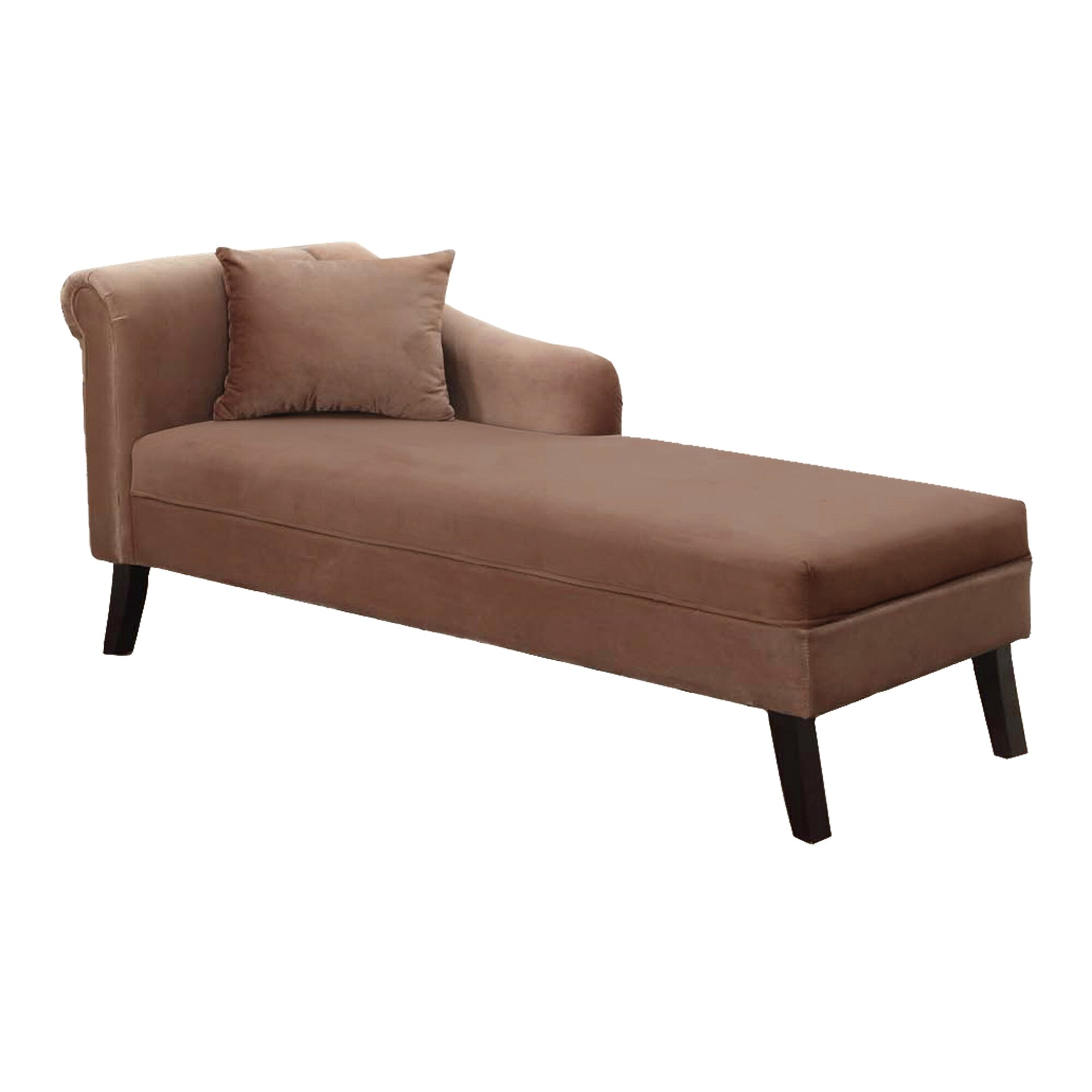 Armen living patterson chaise lounge reviews wayfair for Bathroom chaise lounge