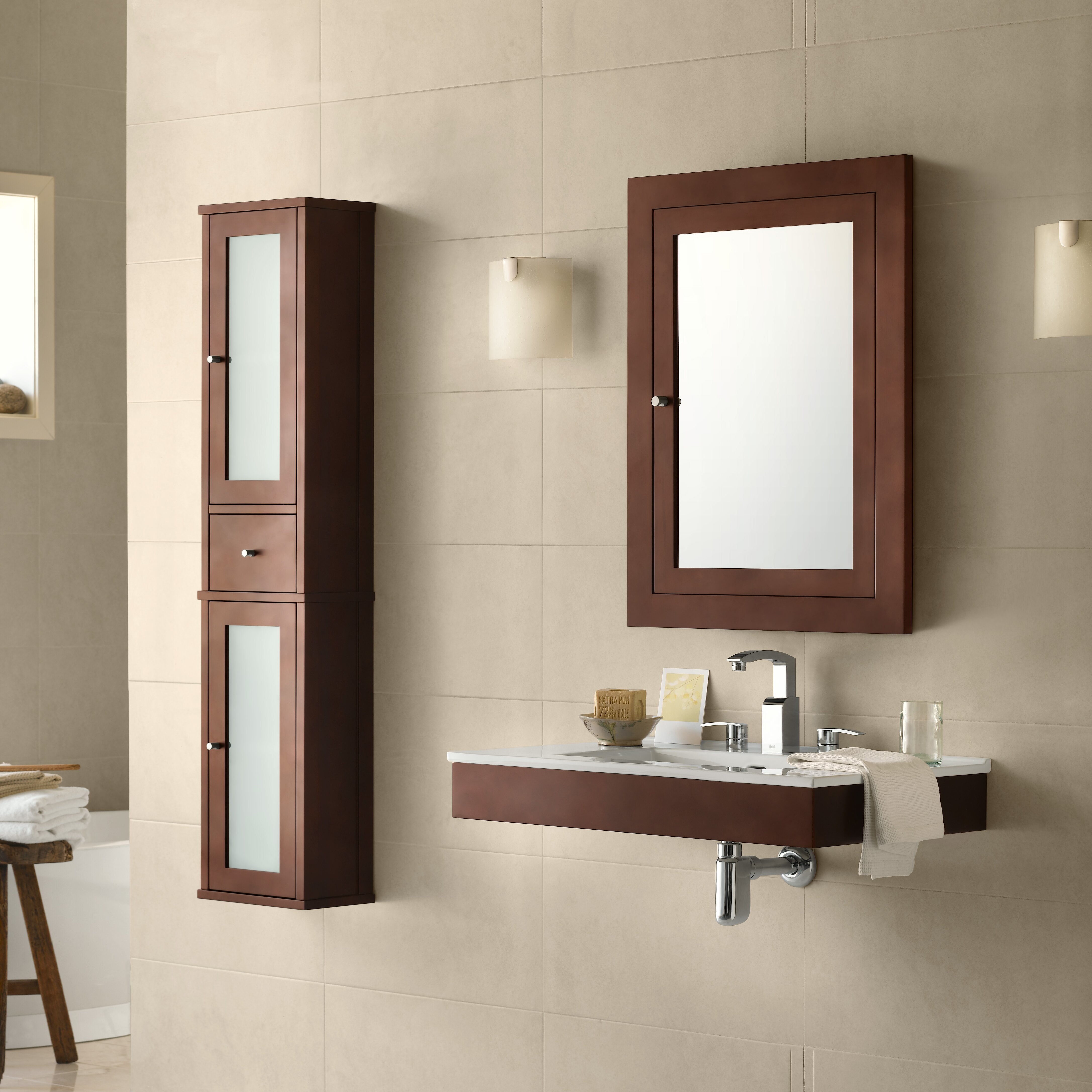 31 wall mount bathroom vanity base cabinet in dark cherry wayfair