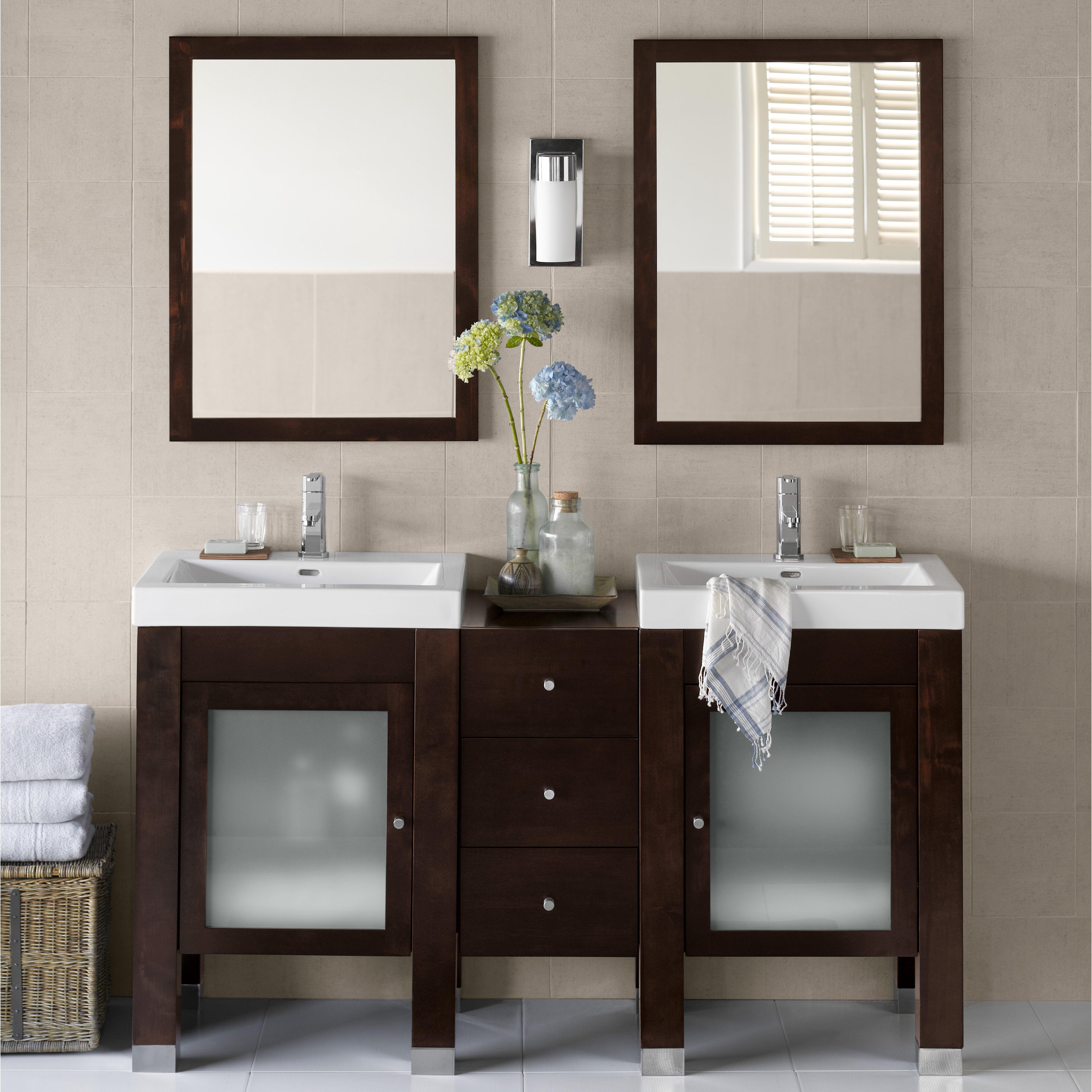 ronbow 59 quot bathroom vanity set with mirror reviews wayfair