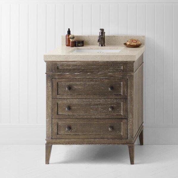 """Used Bathroom Vanity Sets For Sale: Ronbow Laurel 30"""" Single Bathroom Vanity Set & Reviews"""