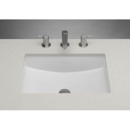 Ronbow Rectangle Ceramic Undermount Bathroom Sink With Overflow In White Reviews Wayfair