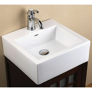 ronbow ceramic square vessel bathroom sink with overflow reviews wayfair