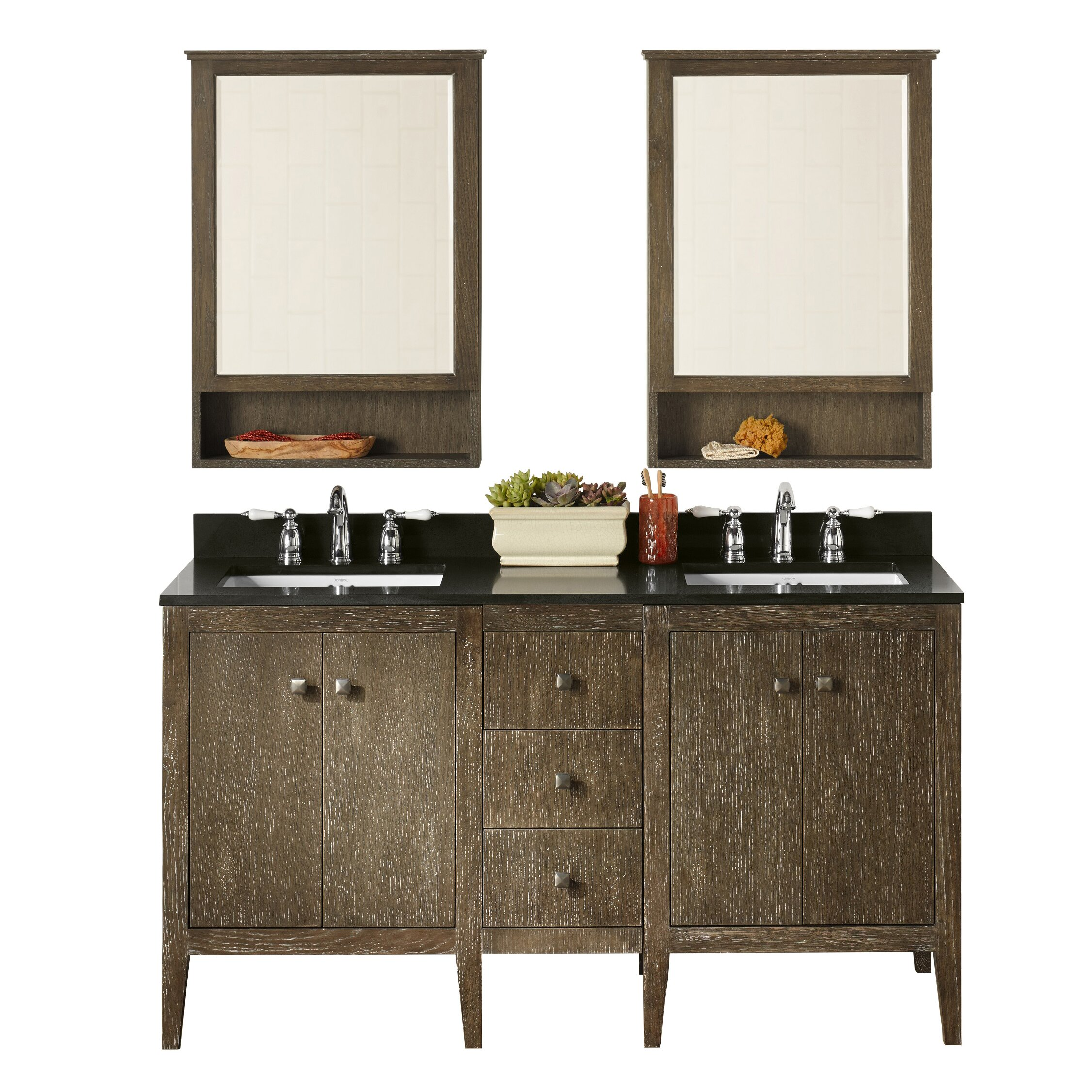 "Ronbow Sophie 24"" Double Bathroom Vanity Set with Mirror"