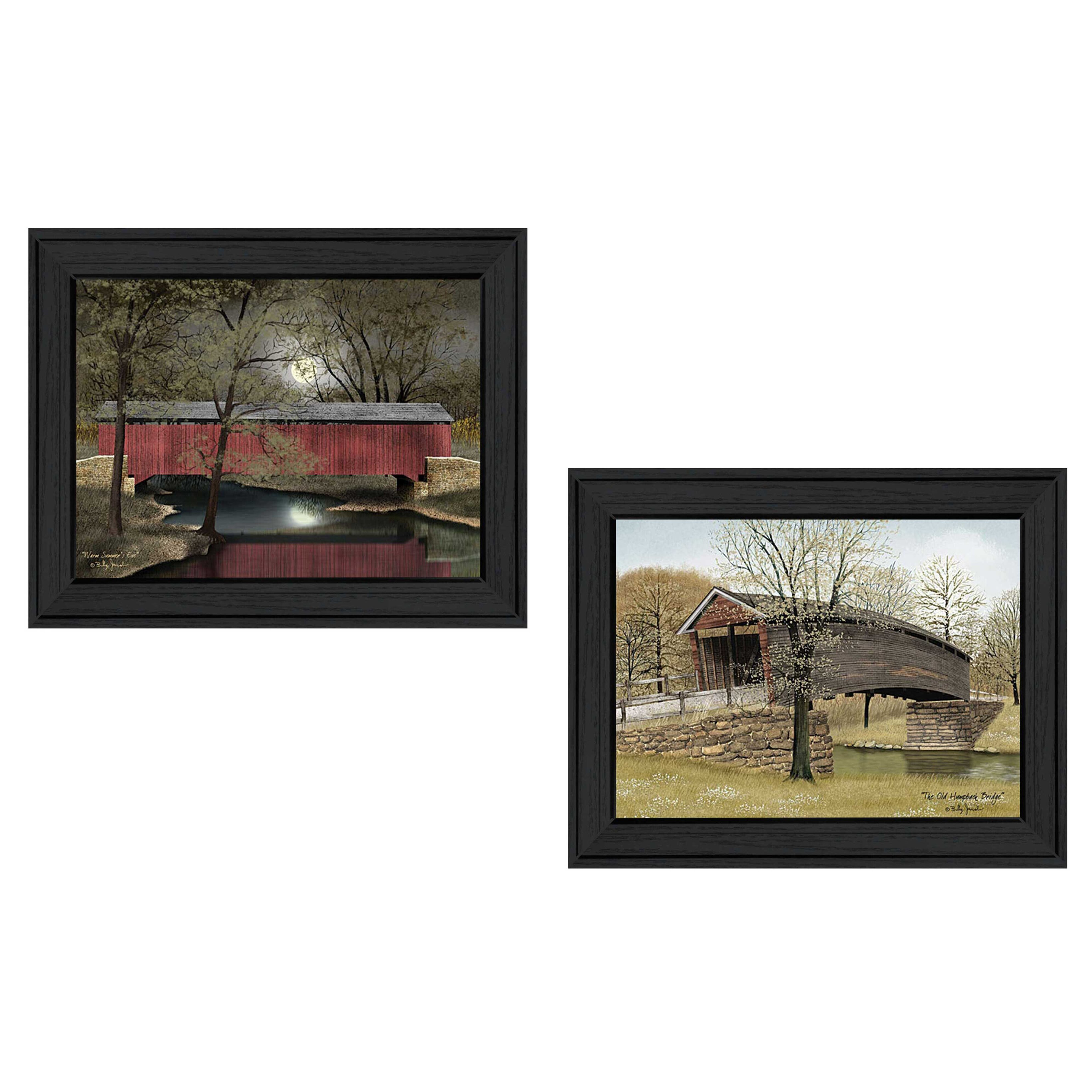 Trendy decor 4u 39 bridges 39 by billy jacobs 2 piece framed for Home decor 4 u