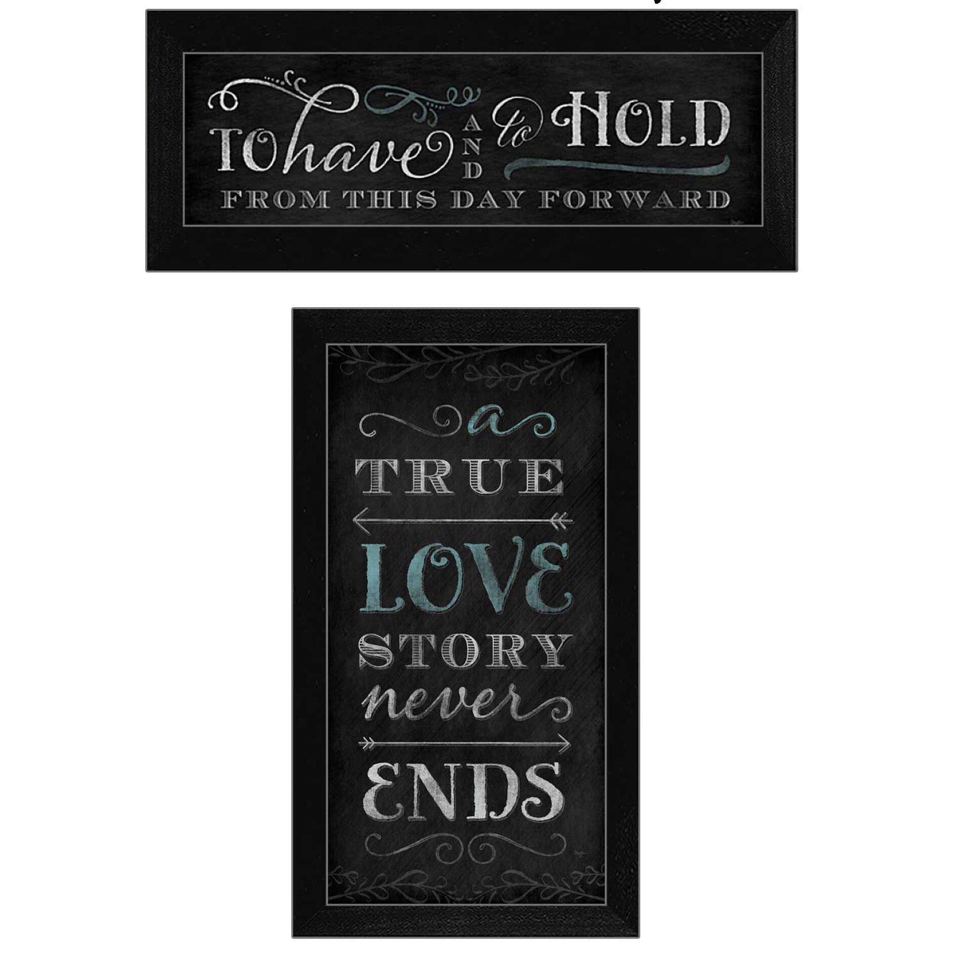 Trendy decor 4u 39 love story 39 by mollie b 2 piece framed for Home decor 4 u