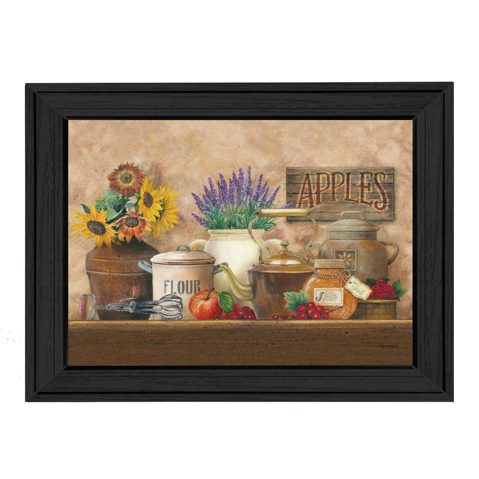 Kitchen Art Prints: Trendy Decor 4U Antique Kitchen By Ed Wargo Framed