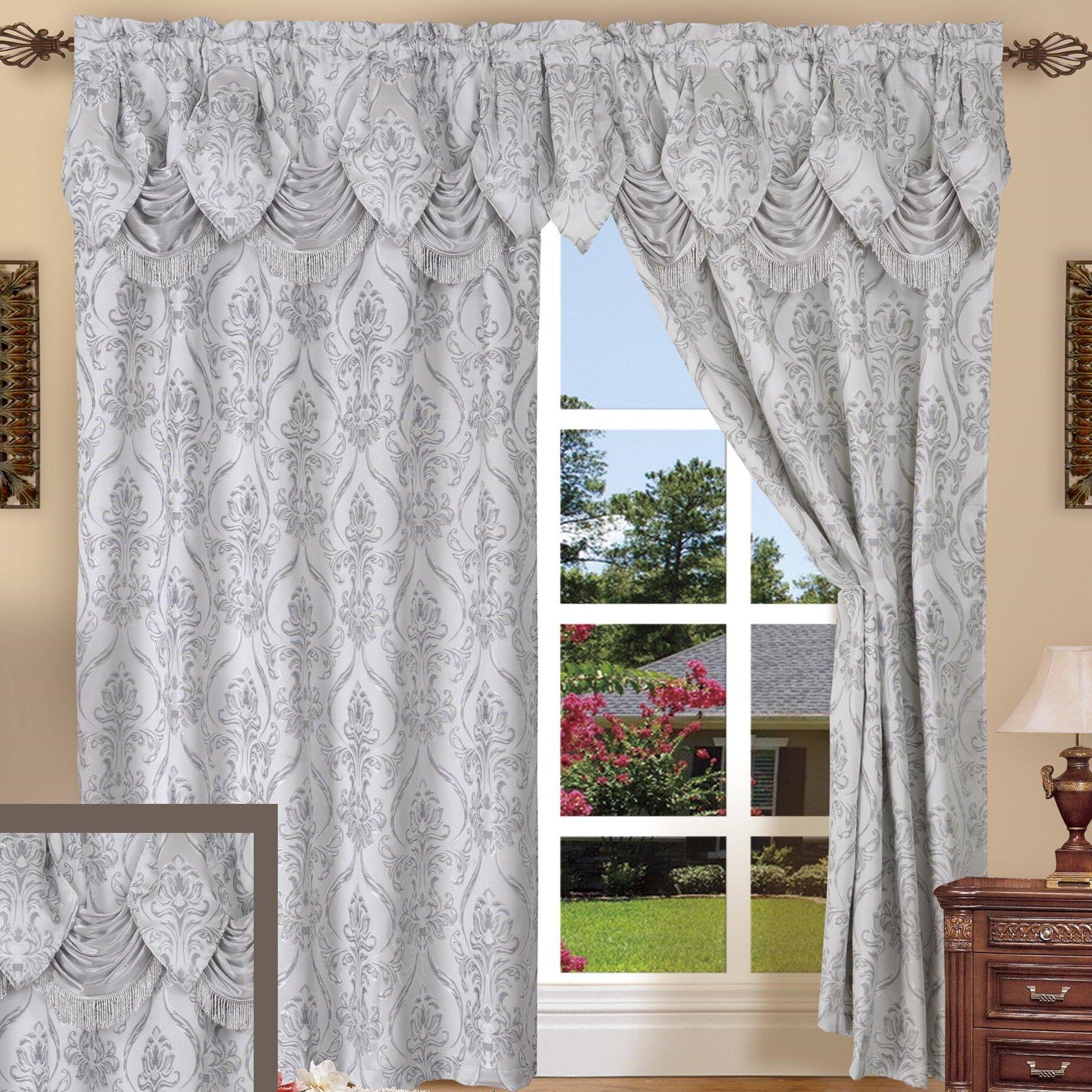 Elegant comfort penelopie curtain window treatment set for Elegant window