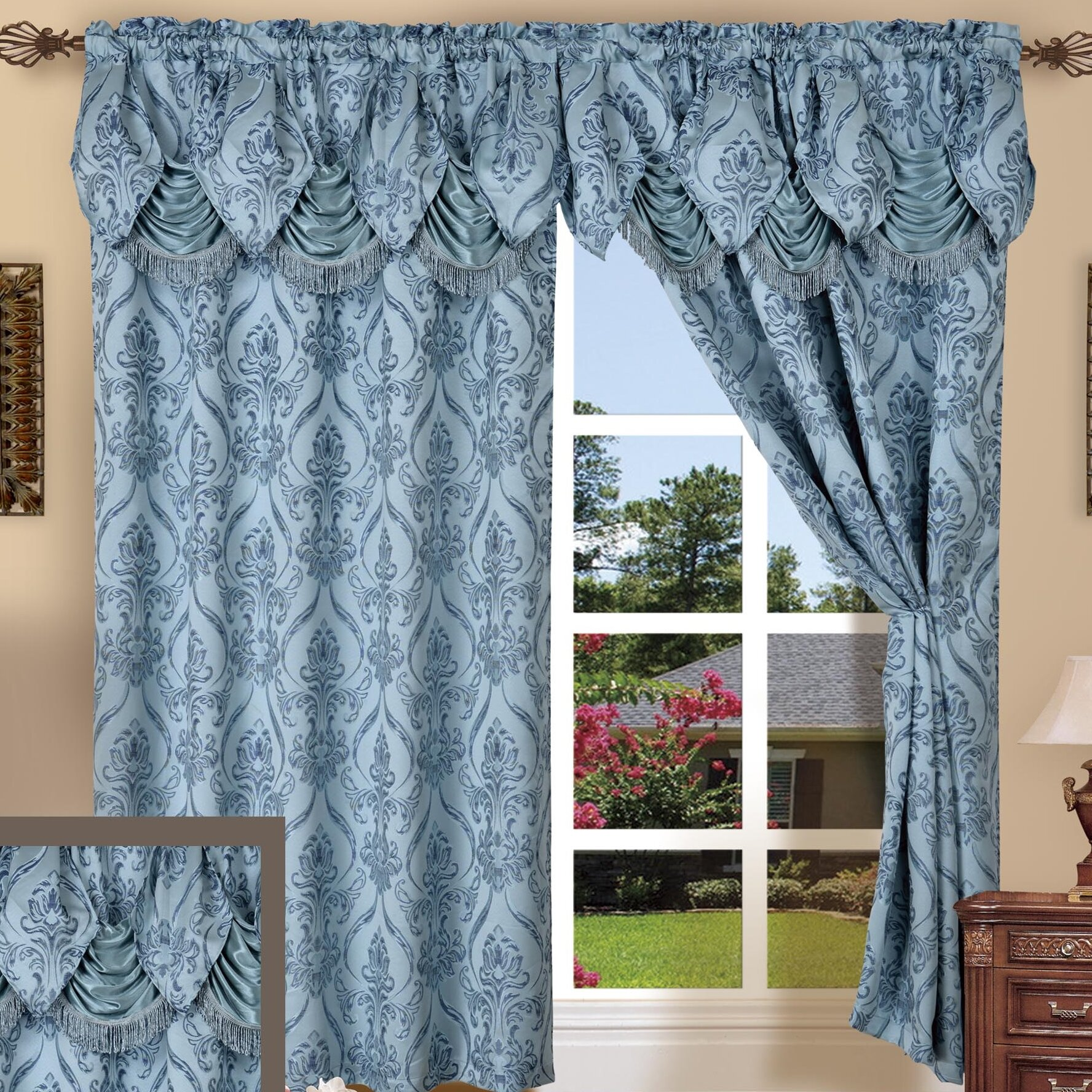 Elegant Comfort Penelopie Curtain Window Treatment Set