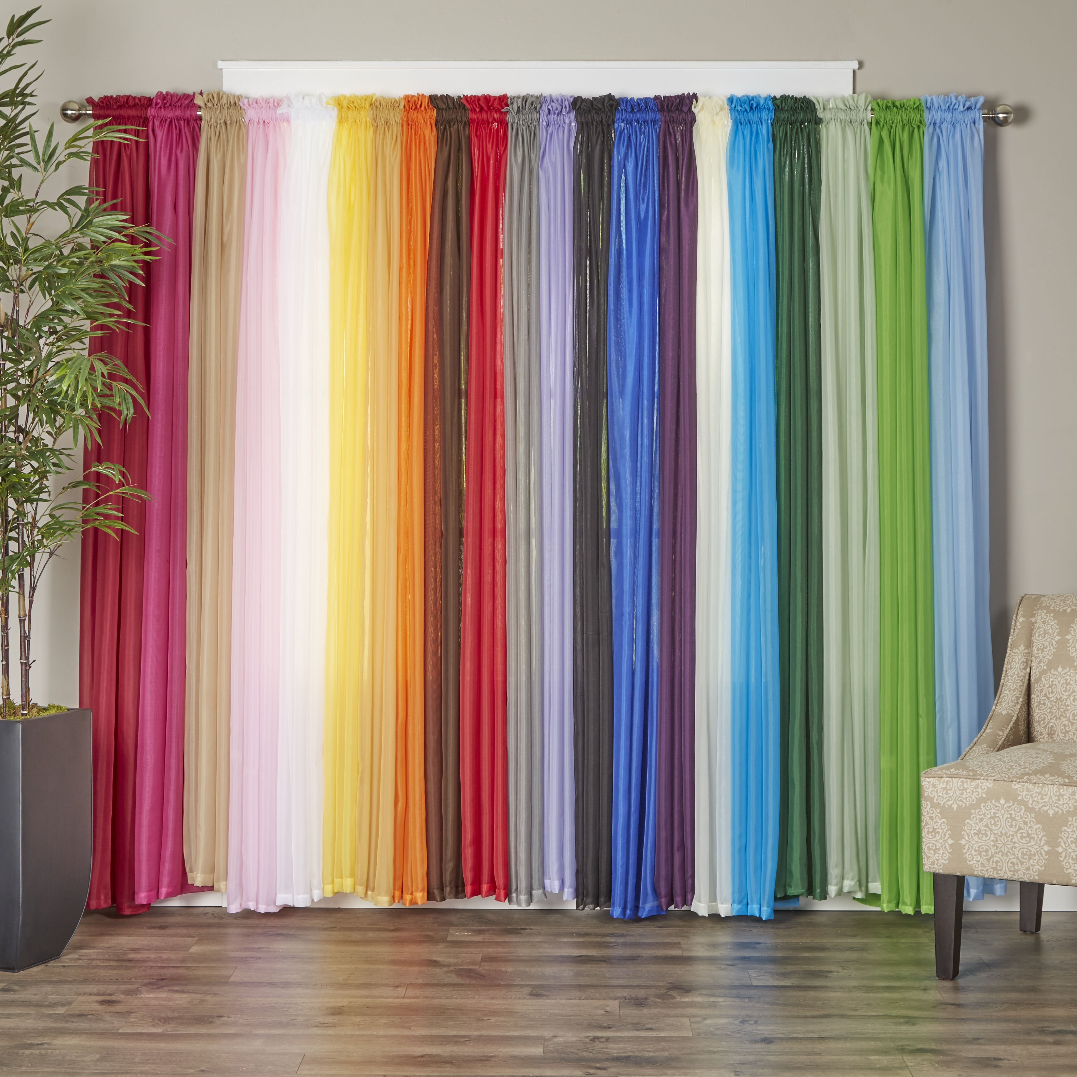Polyester Curtain Panels : Wayfair basics polyester curtain panel