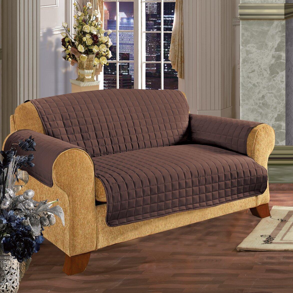 Elegant Comfort Loveseat T Cushion Slipcover Reviews Wayfair