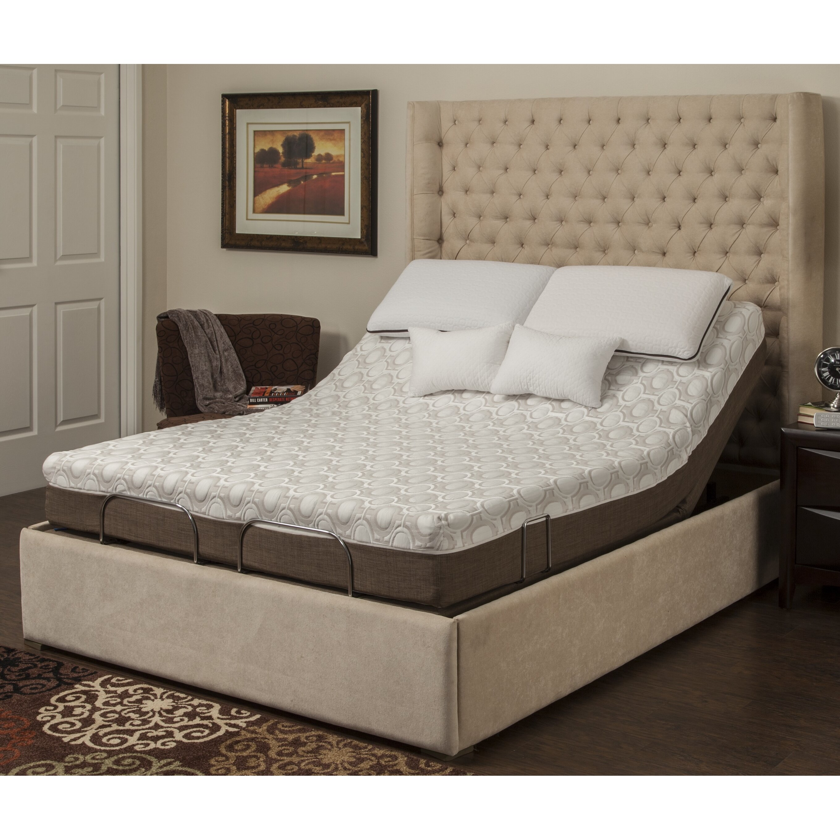 Adjustable Bed And Mattress Reviews : Blissfulnights dahlia quot memory foam mattress with m