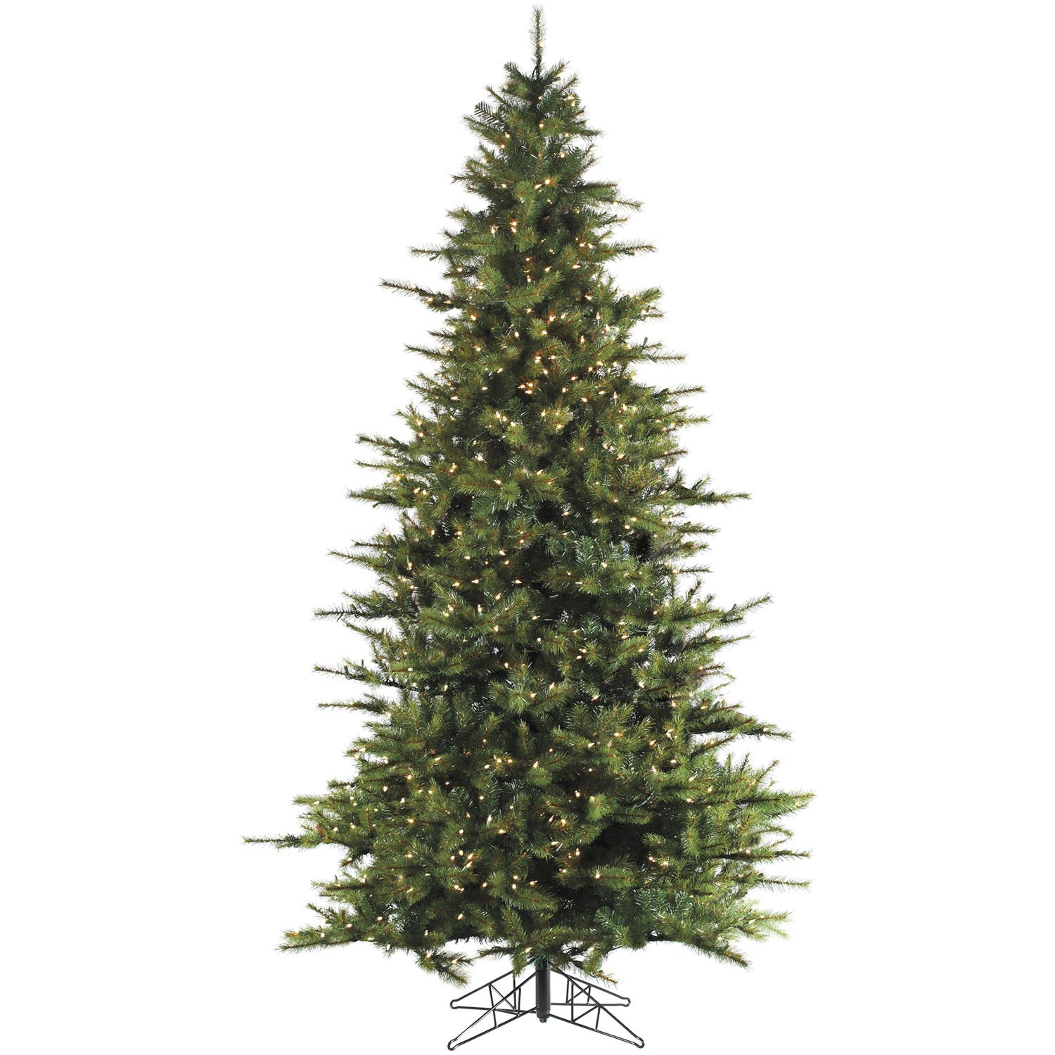 Fraser Hill Farm Southern Peace Pine 7.5 Green Artificial Christmas Tree with 600 Smart String ...