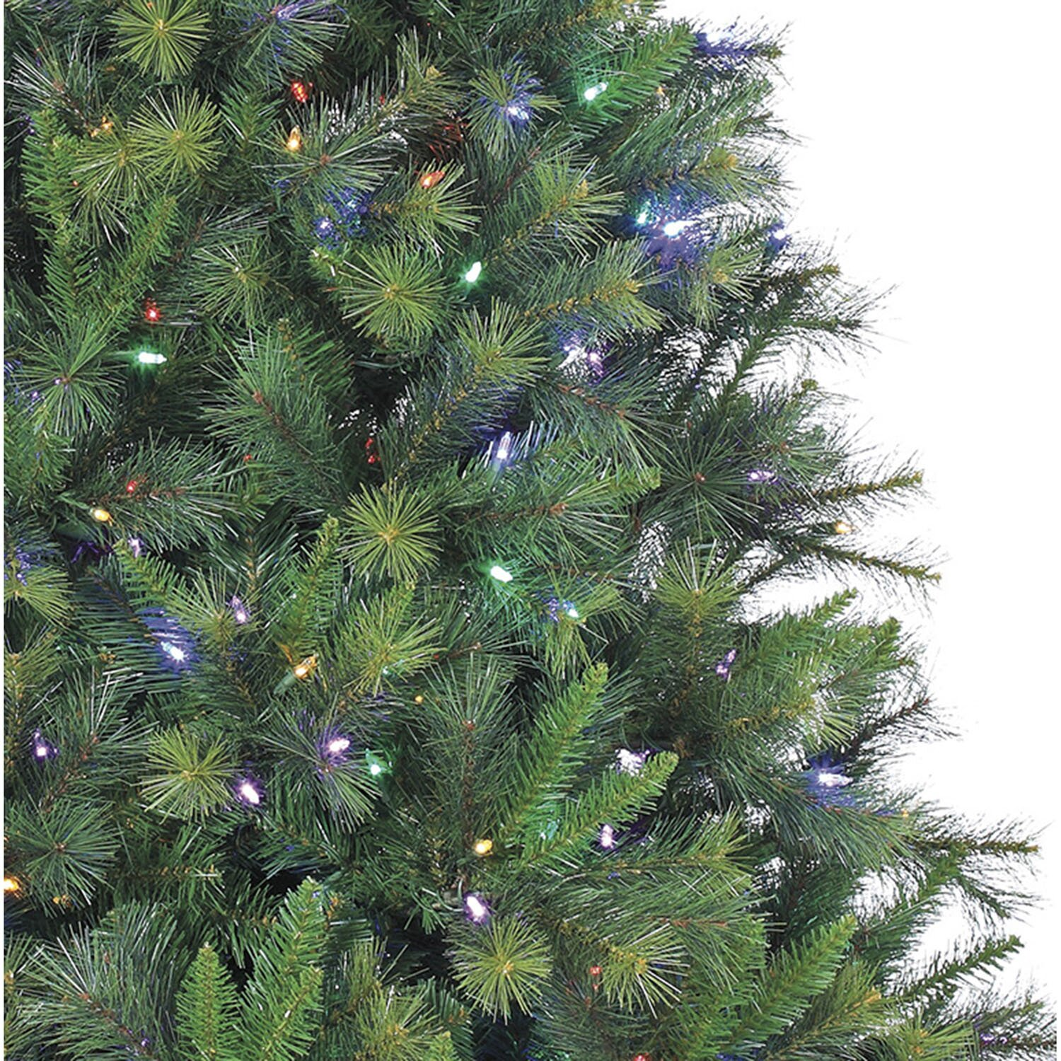Fraser Hill Farm Canyon Pine 12 Green Artificial Christmas Tree with 2150 LED Multi-Colored ...