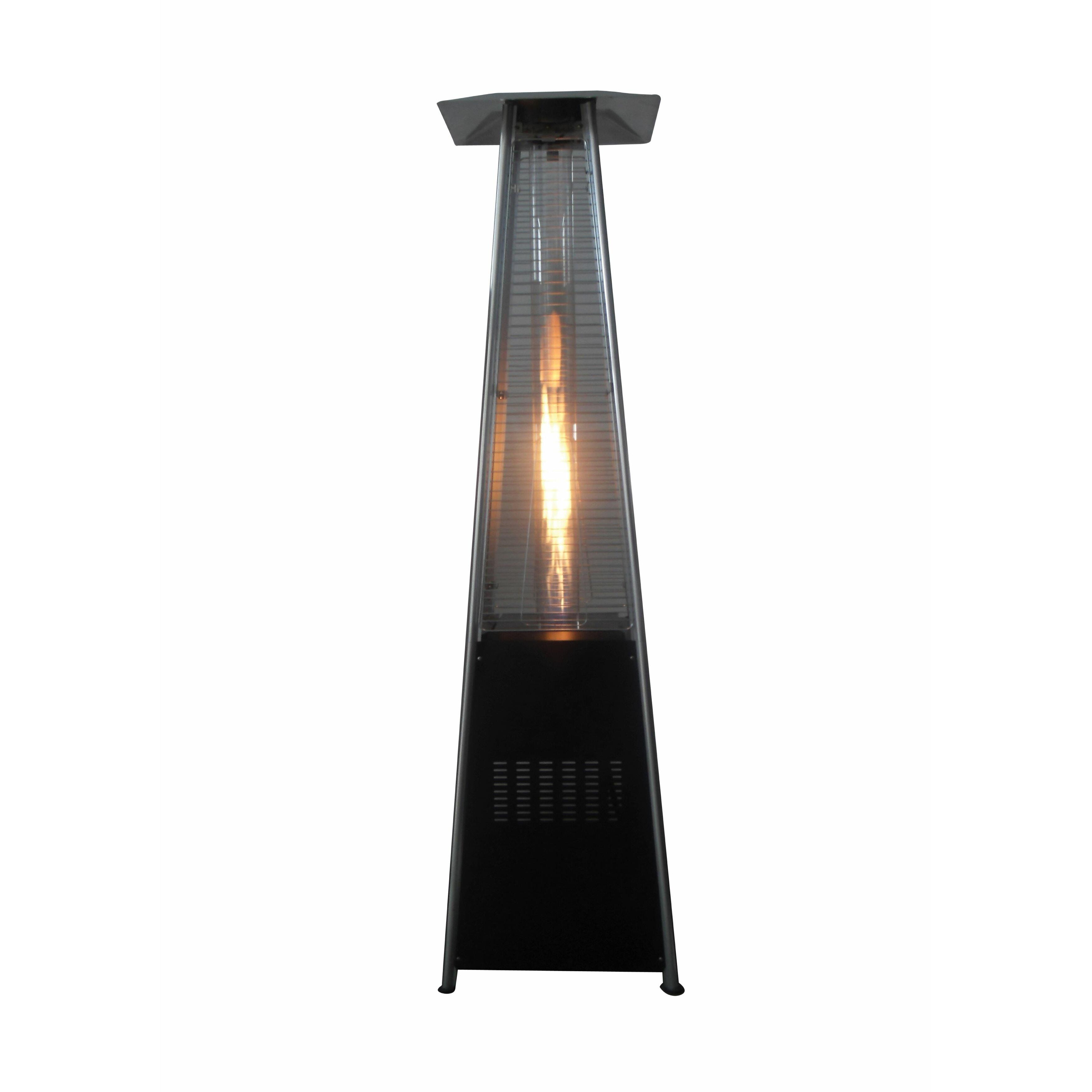 Gardensun Pyramid Shape Dancing Flame Outdoor Glass Tube Propane Patio Heater