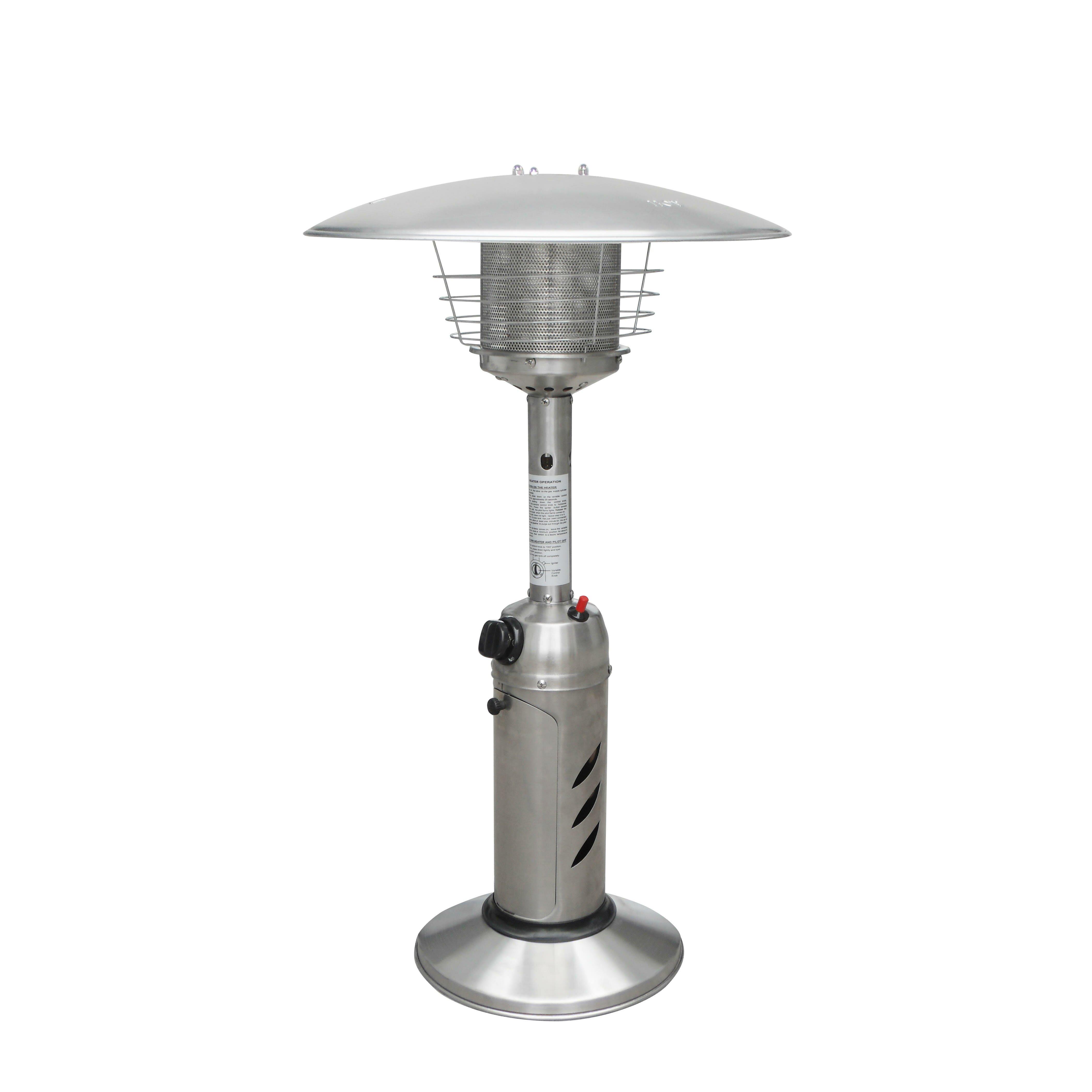 gardensun portable tabletop propane patio heater reviews