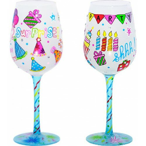 95 Sunny Surprise Bottom 39 S Up Wine Glass Wayfair
