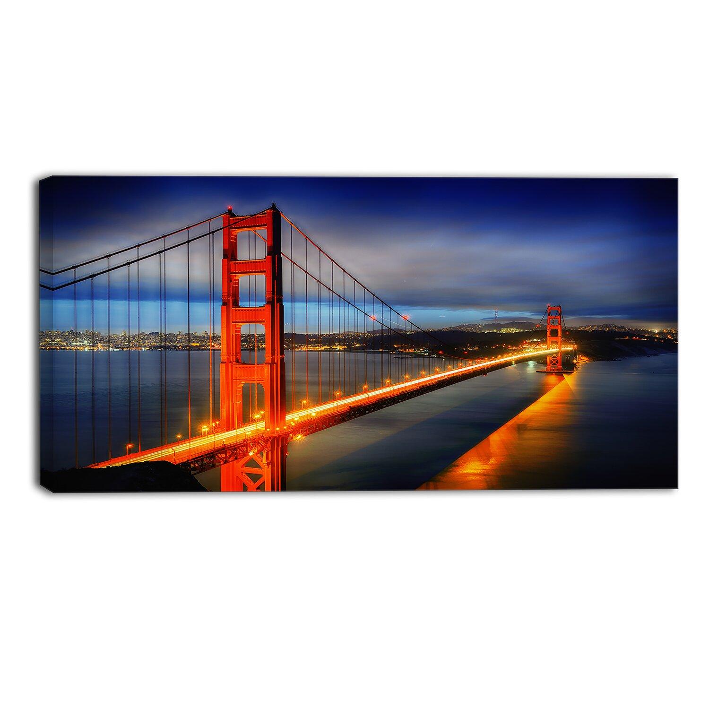 Designart Golden Gate Bridge Landscape Photographic Print