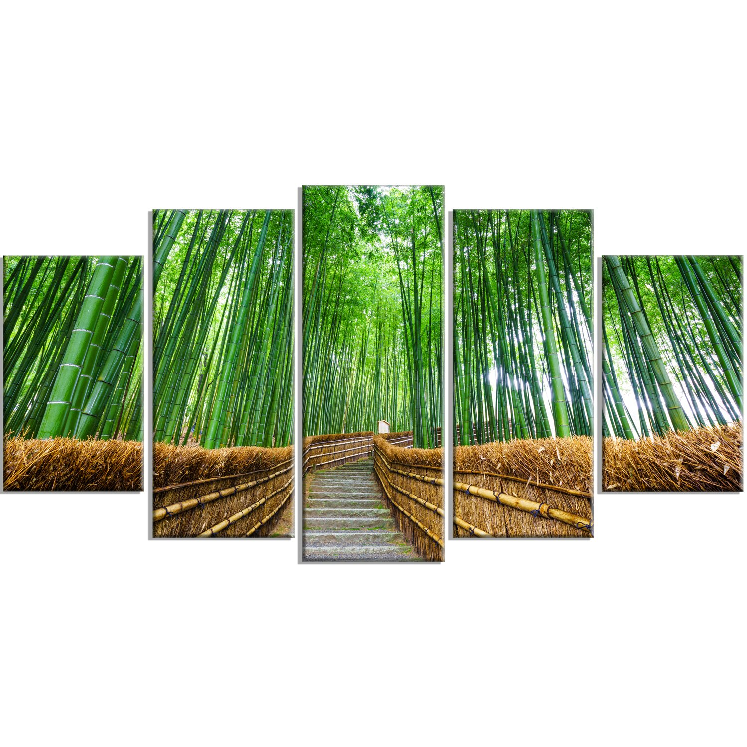 DesignArt 'Path To Bamboo Forest' 5 Piece Wall Art On